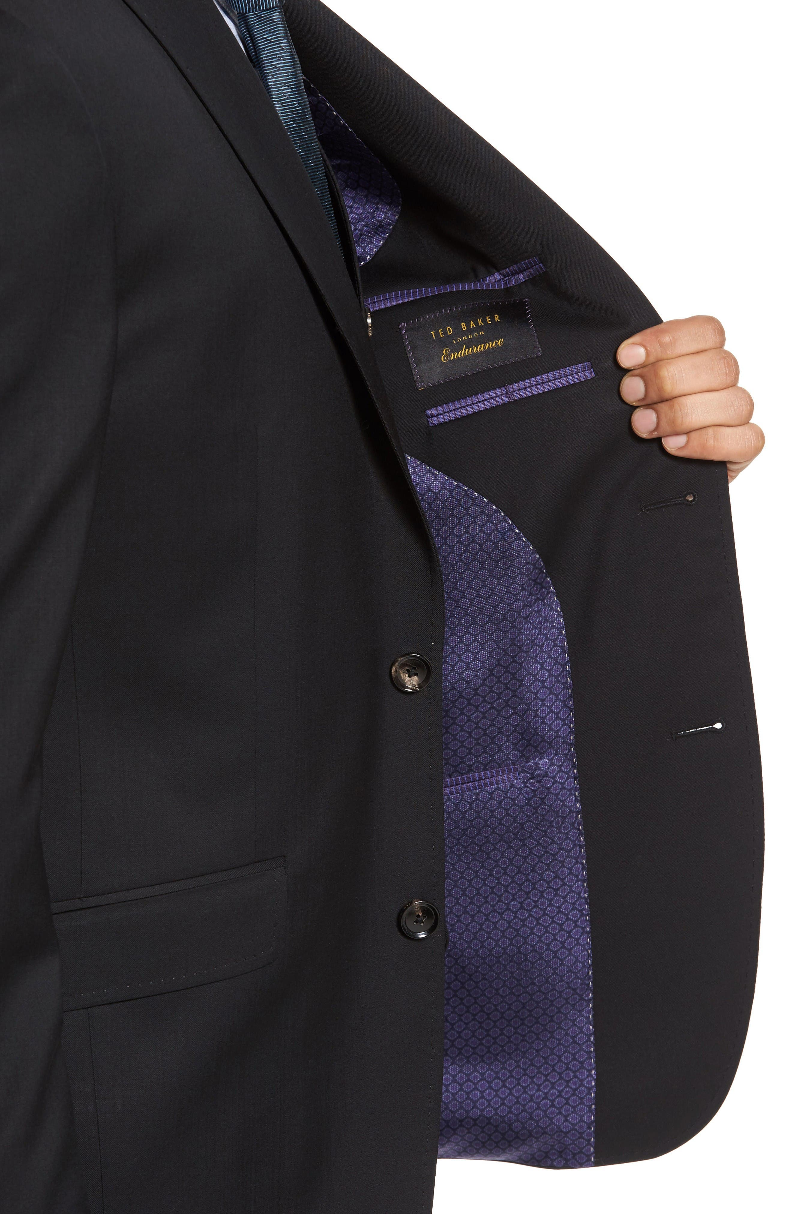 Alternate Image 4  - Ted Baker London Jones Trim Fit Wool Suit