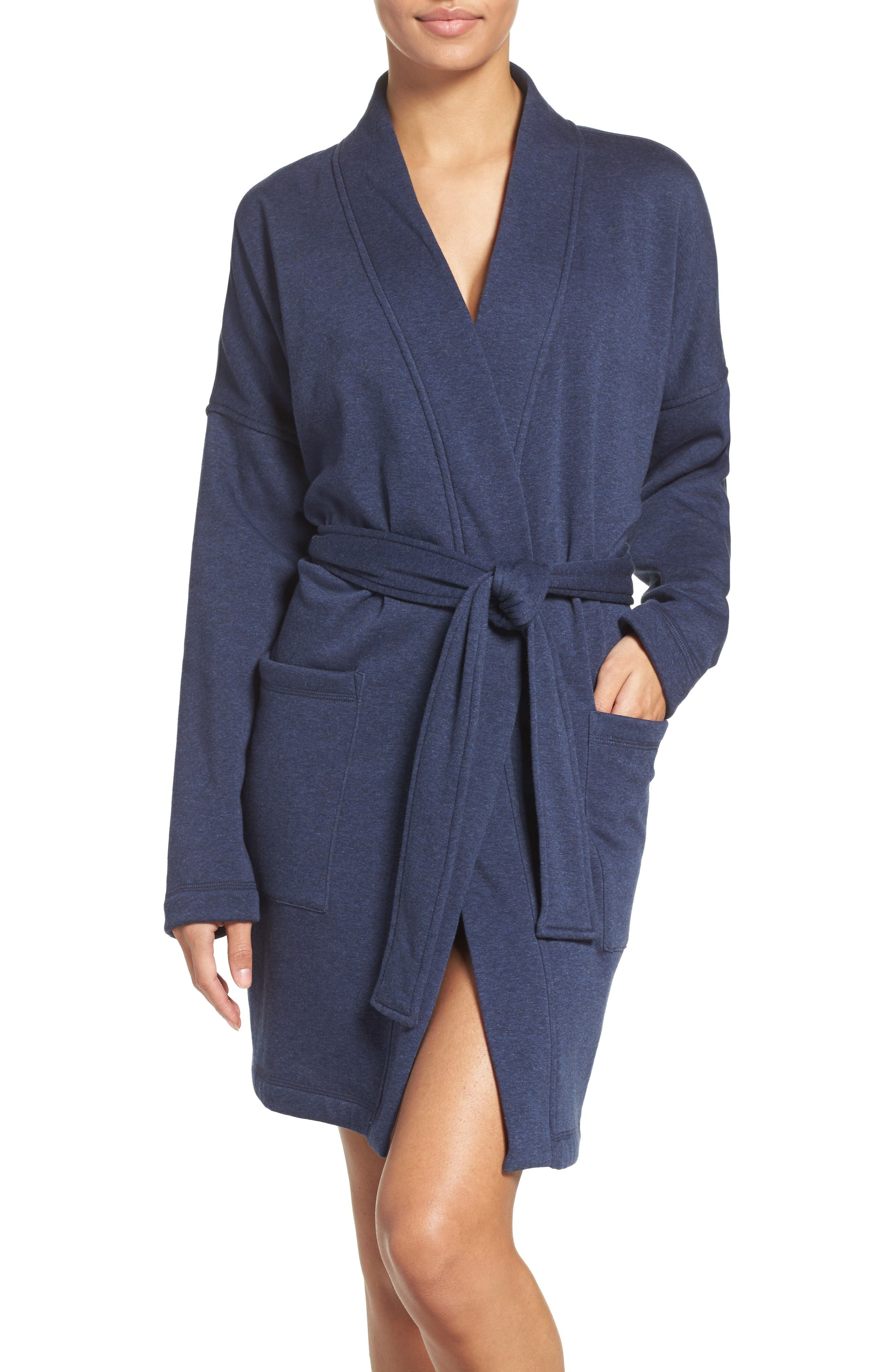 Braelyn Robe,                         Main,                         color, Navy Heather