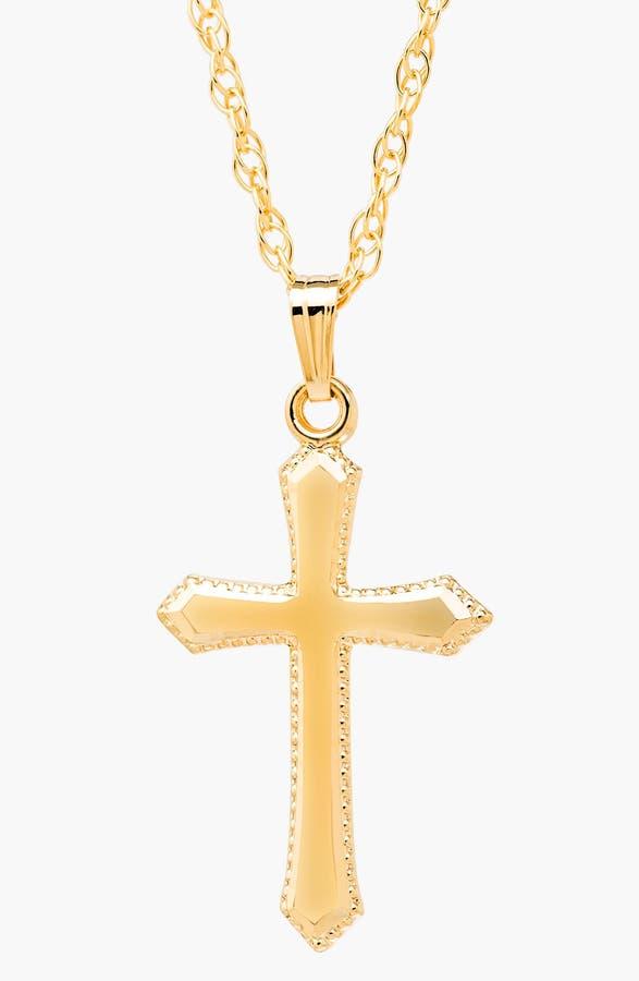 Mignonette 14k Gold Cross Necklace (Girls)   Nordstrom
