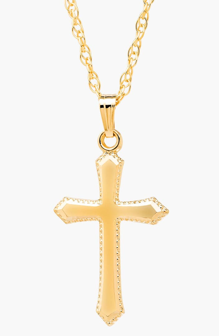 Mignonette 14k gold cross necklace girls nordstrom for Baby jewelry near me