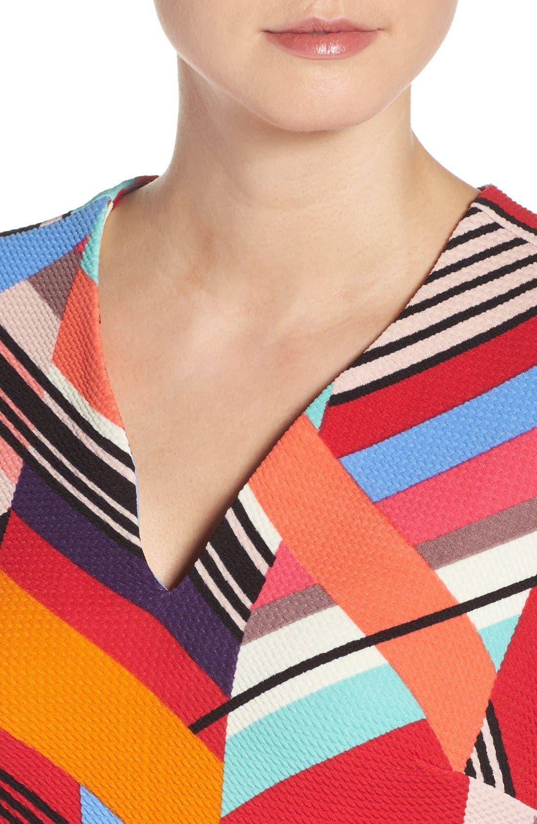 Alternate Image 5  - ECI Print Piqué Sheath Dress