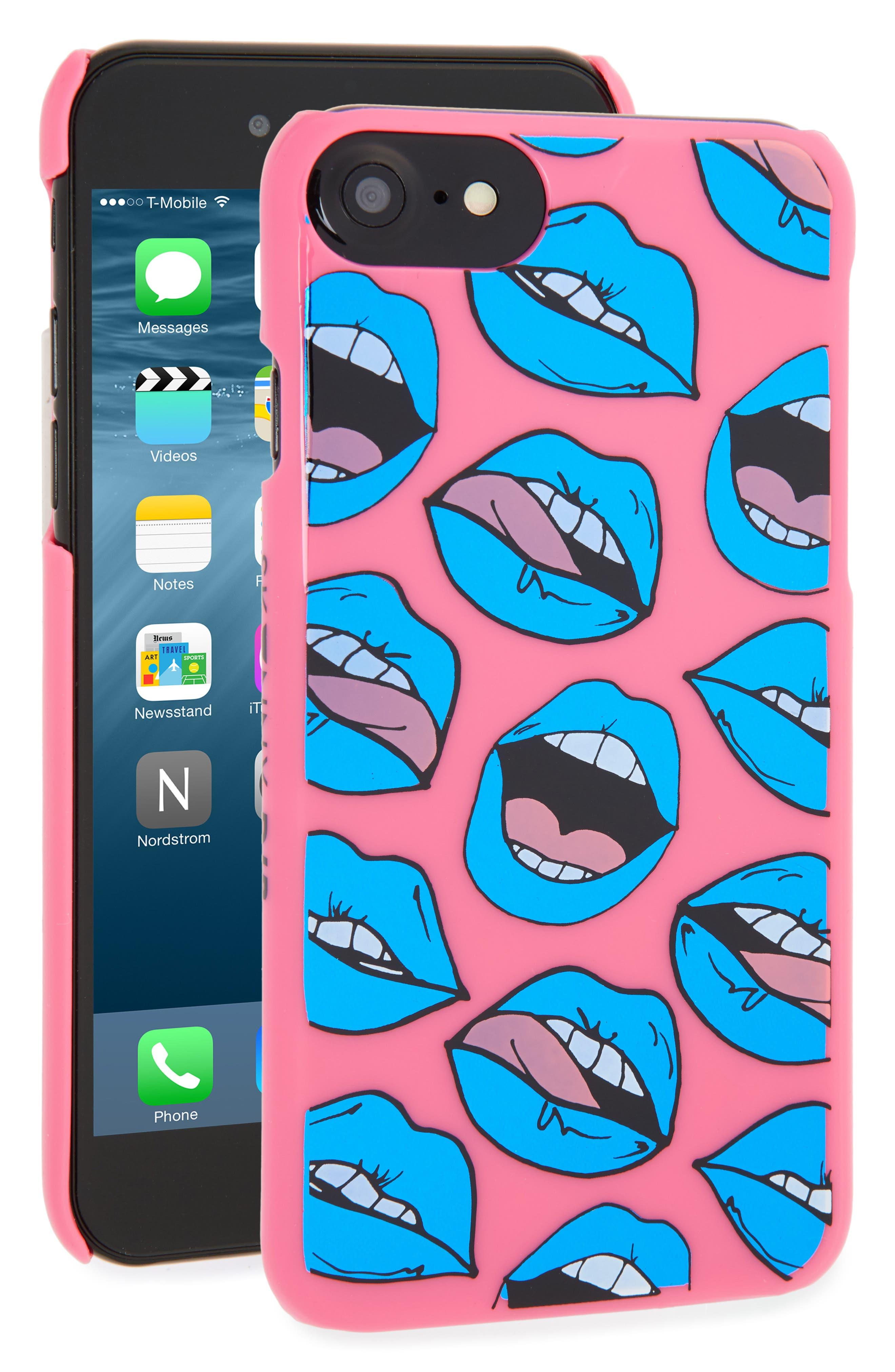 Main Image - Skinny Dip Pop Art Mouth iPhone 7 Case