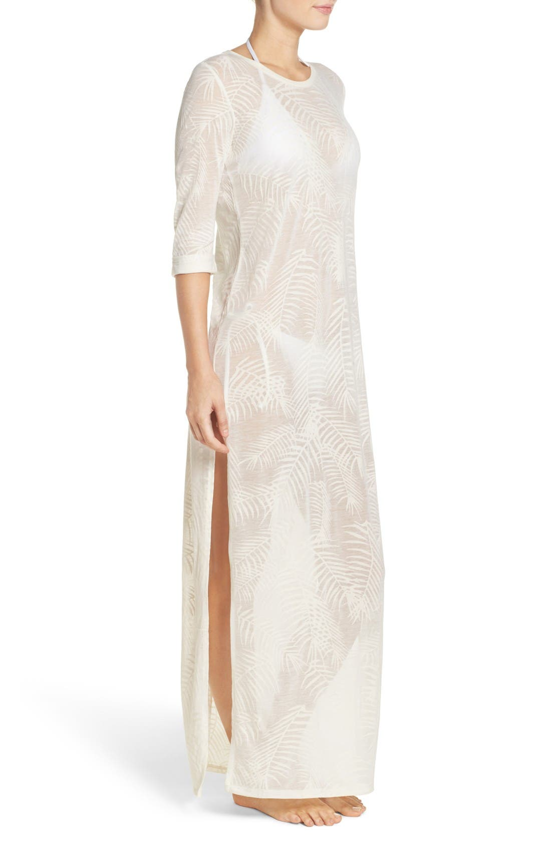 Finley Cover-Up Maxi Dress,                             Alternate thumbnail 3, color,                             White