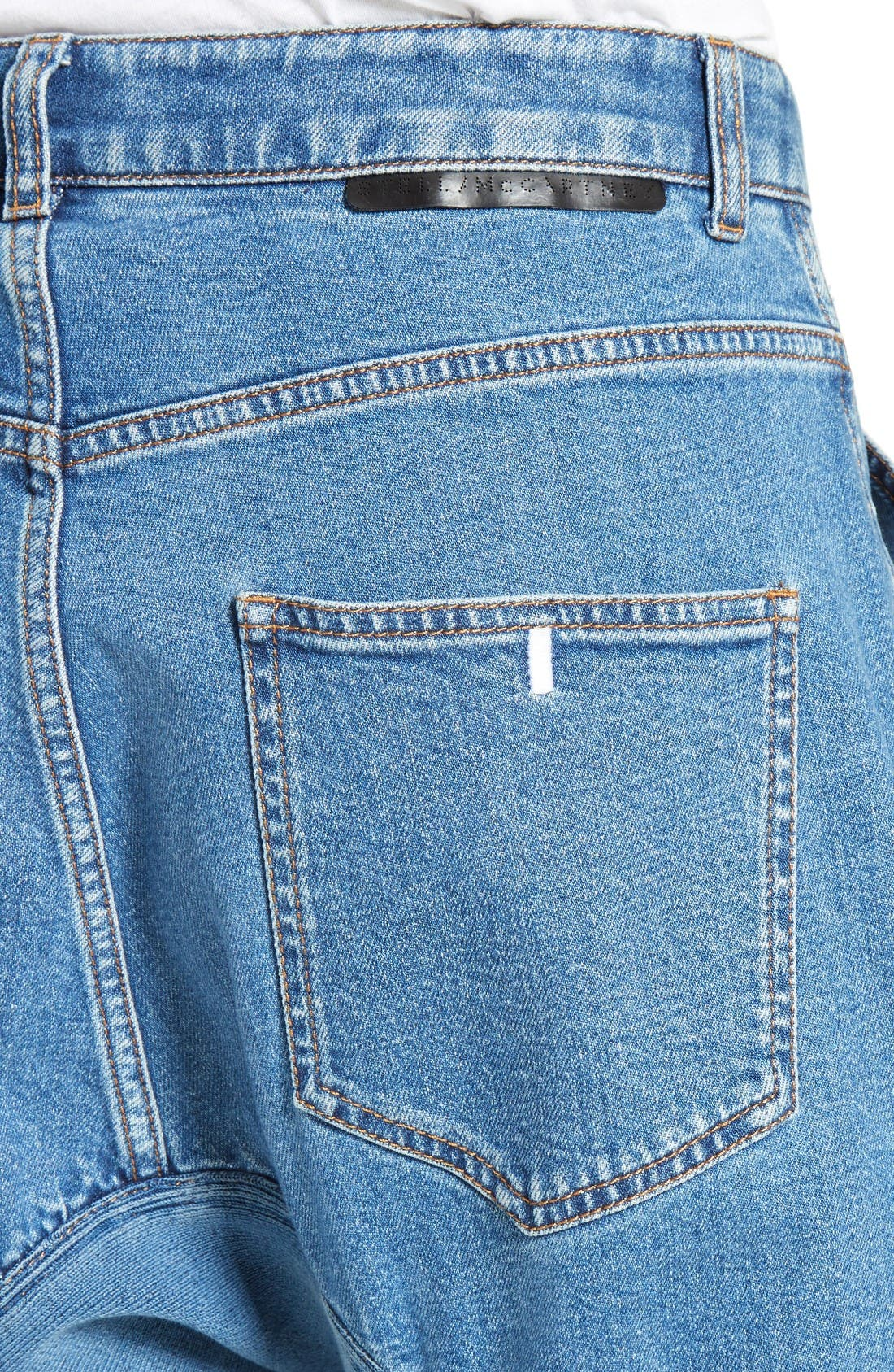 Xenia Ruched Crop Jeans,                             Alternate thumbnail 6, color,                             Blue