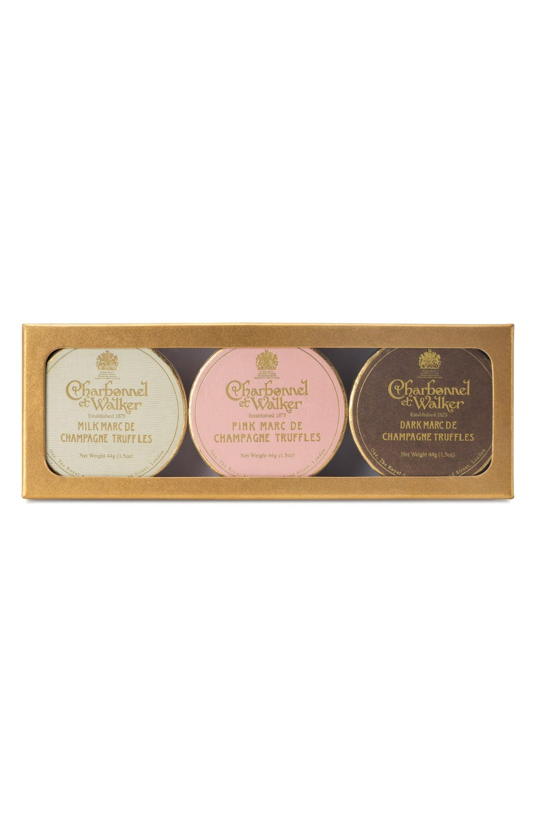 Alternate Image 1 Selected - Charbonnel et Walker Milk/Pink/Dark Chocolate Truffles in Gift Box
