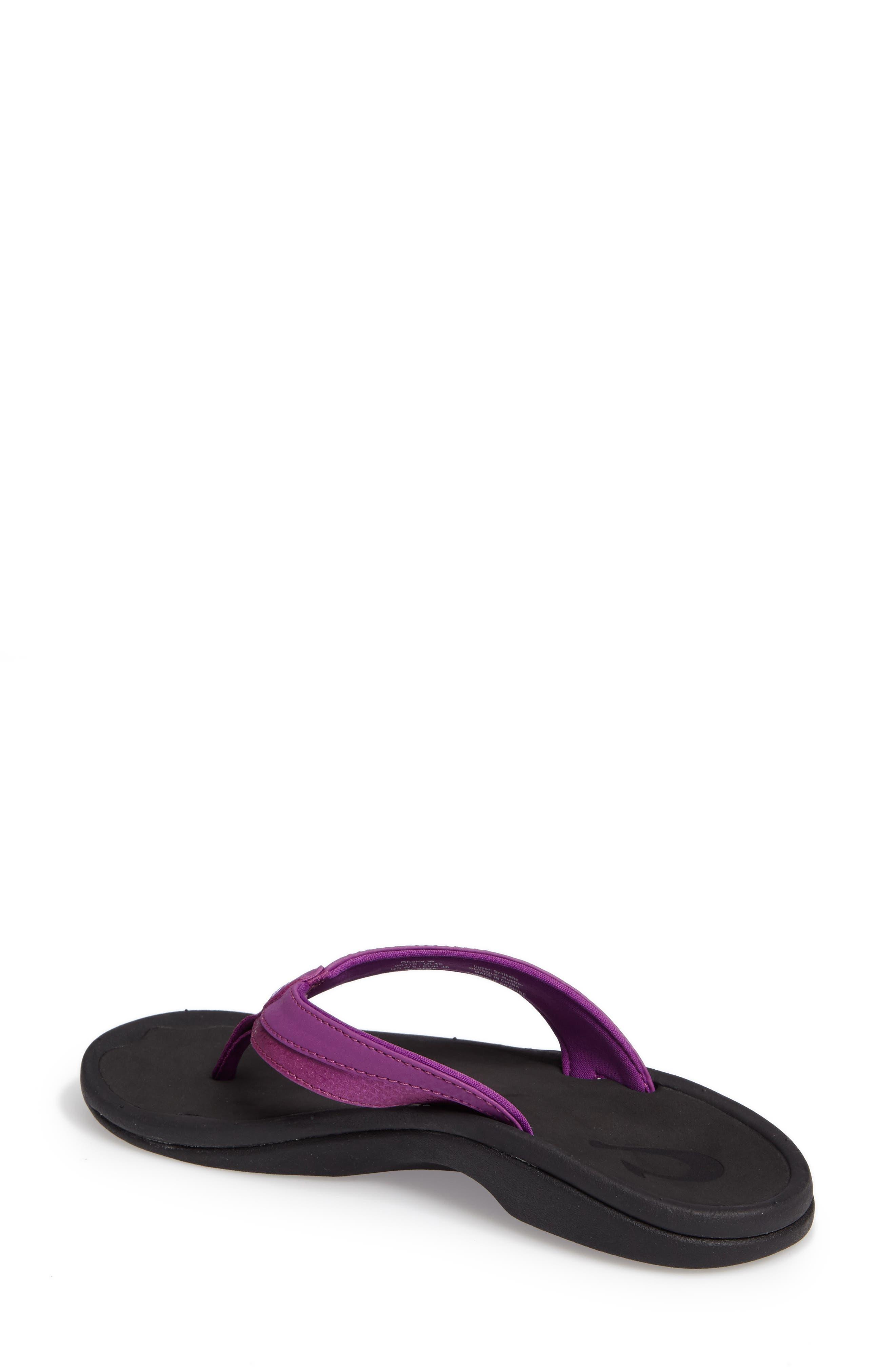 Ohana Sandal,                             Alternate thumbnail 2, color,                             Dahlia/ Black Faux Leather
