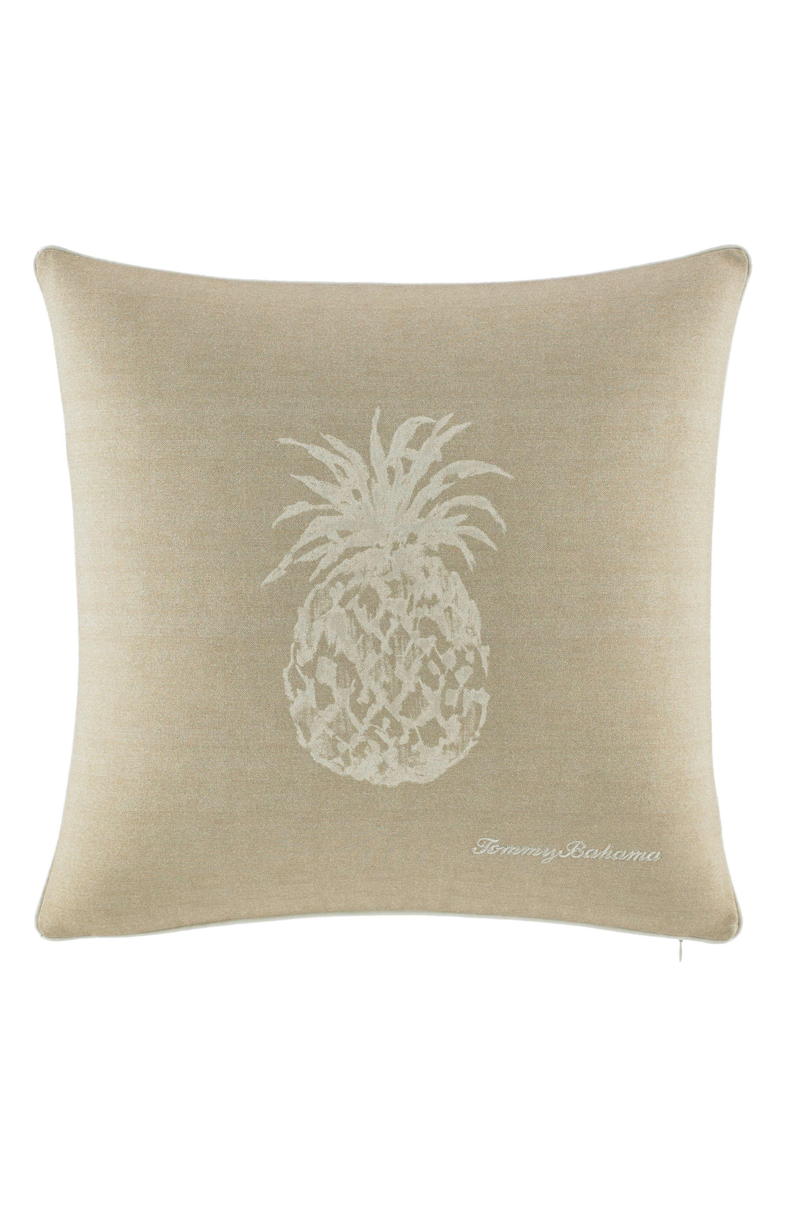 Pineapple Canvas Accent Pillow,                         Main,                         color, Khaki