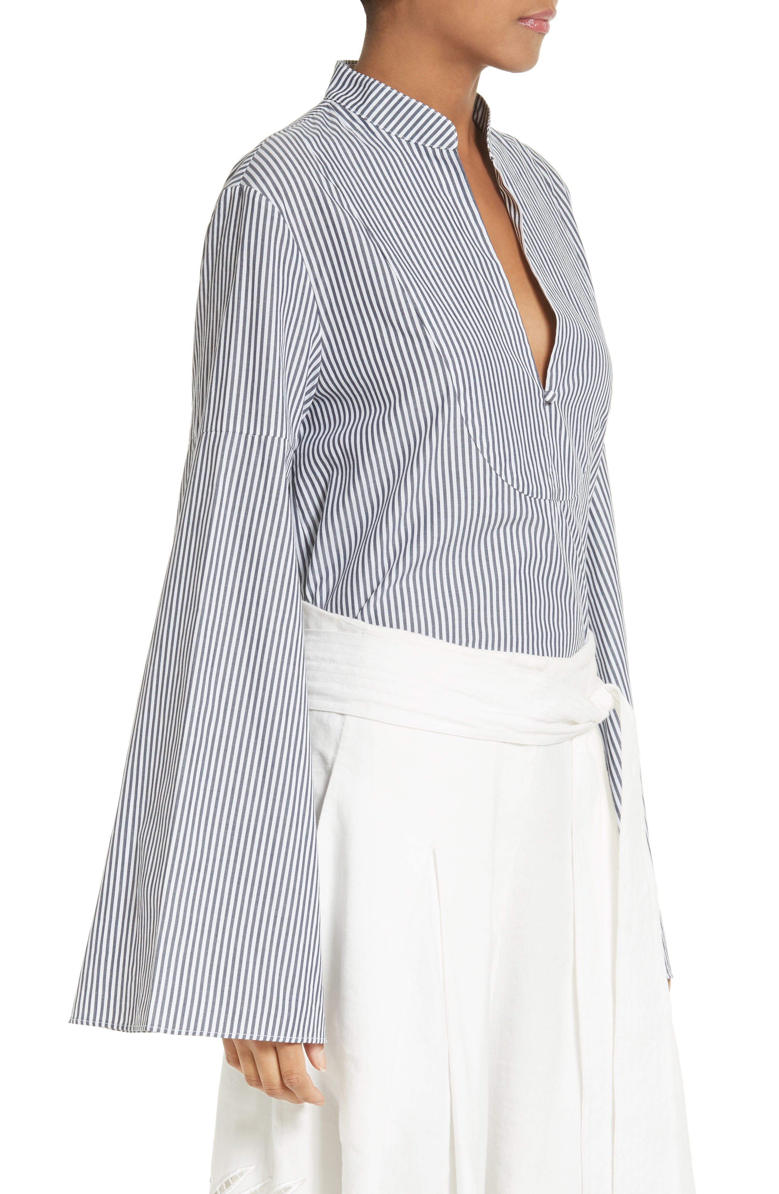 Alternate Image 3  - Tanya Taylor Klara Stripe Bell Sleeve Top