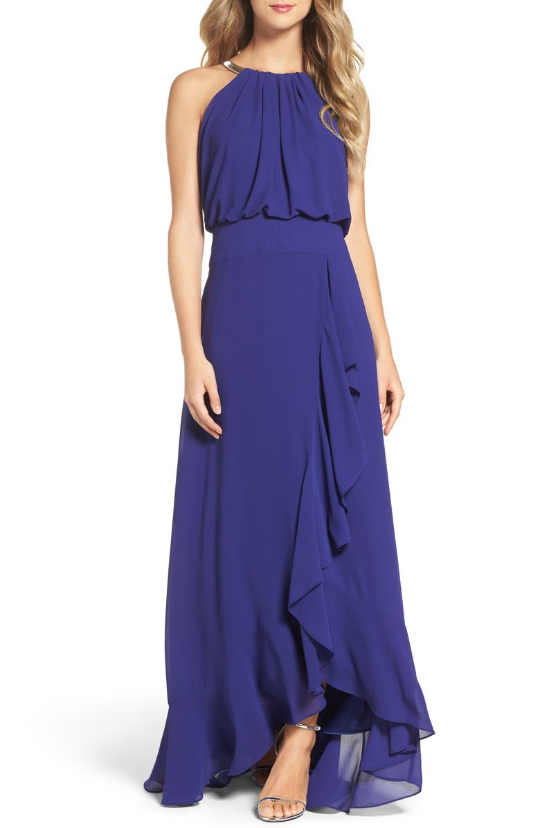 Eliza J Chiffon Ruffle Gown (Regular & Petite) | Nordstrom