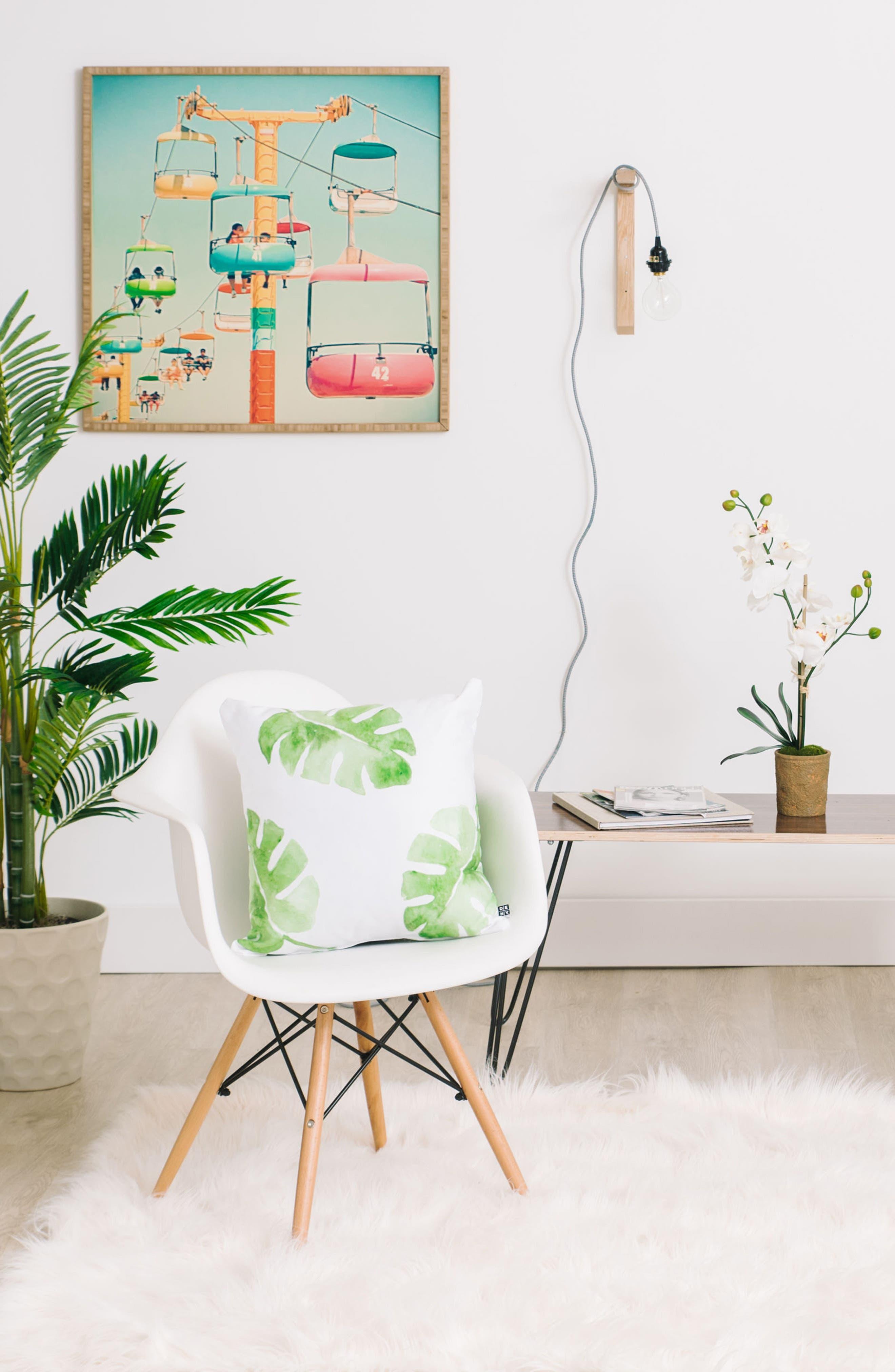 Wonder Forest Pillow,                             Alternate thumbnail 2, color,                             Green