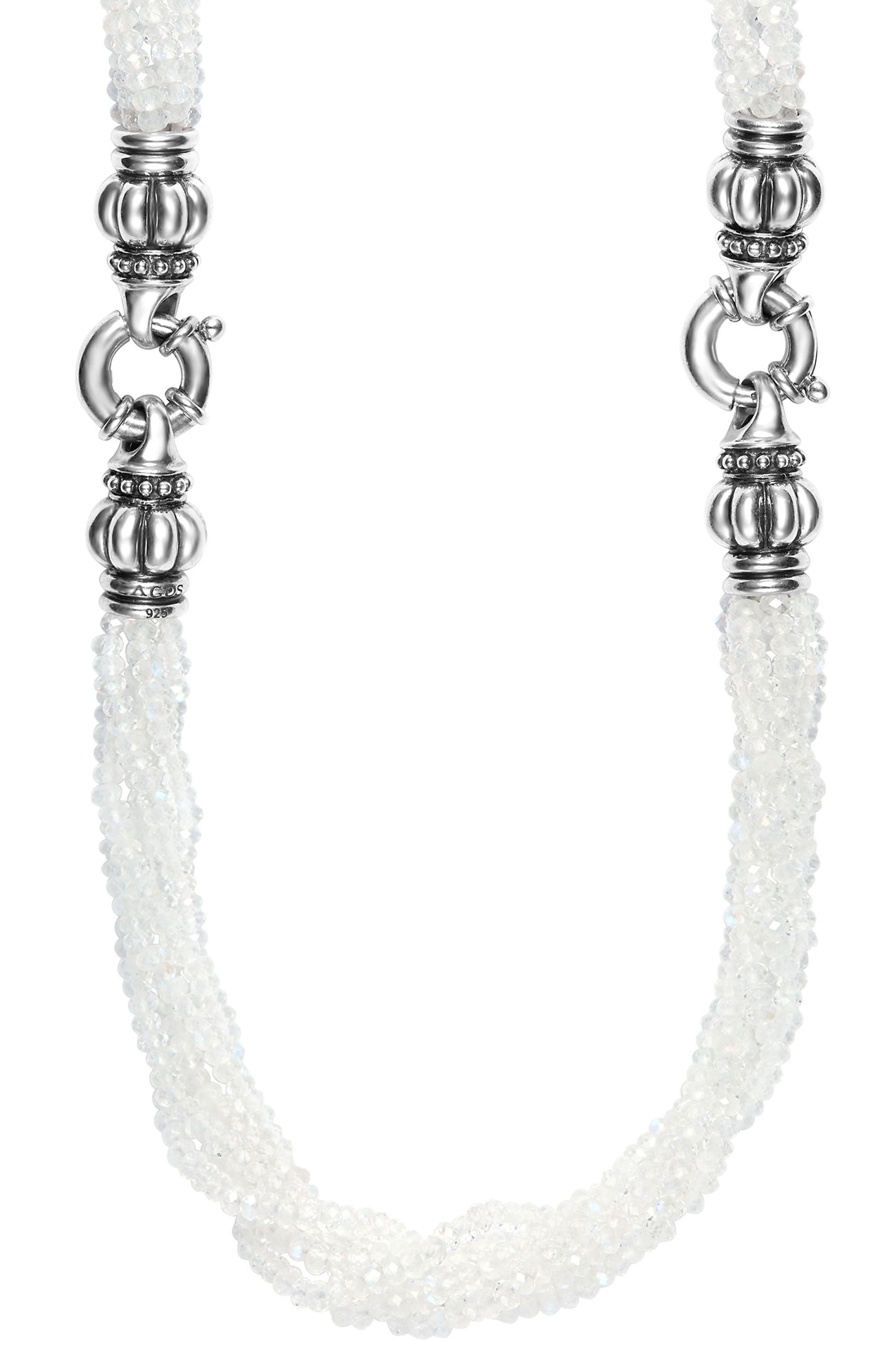 Caviar Icon Bead Convertible Bracelet & Necklace,                         Main,                         color, Moonstone