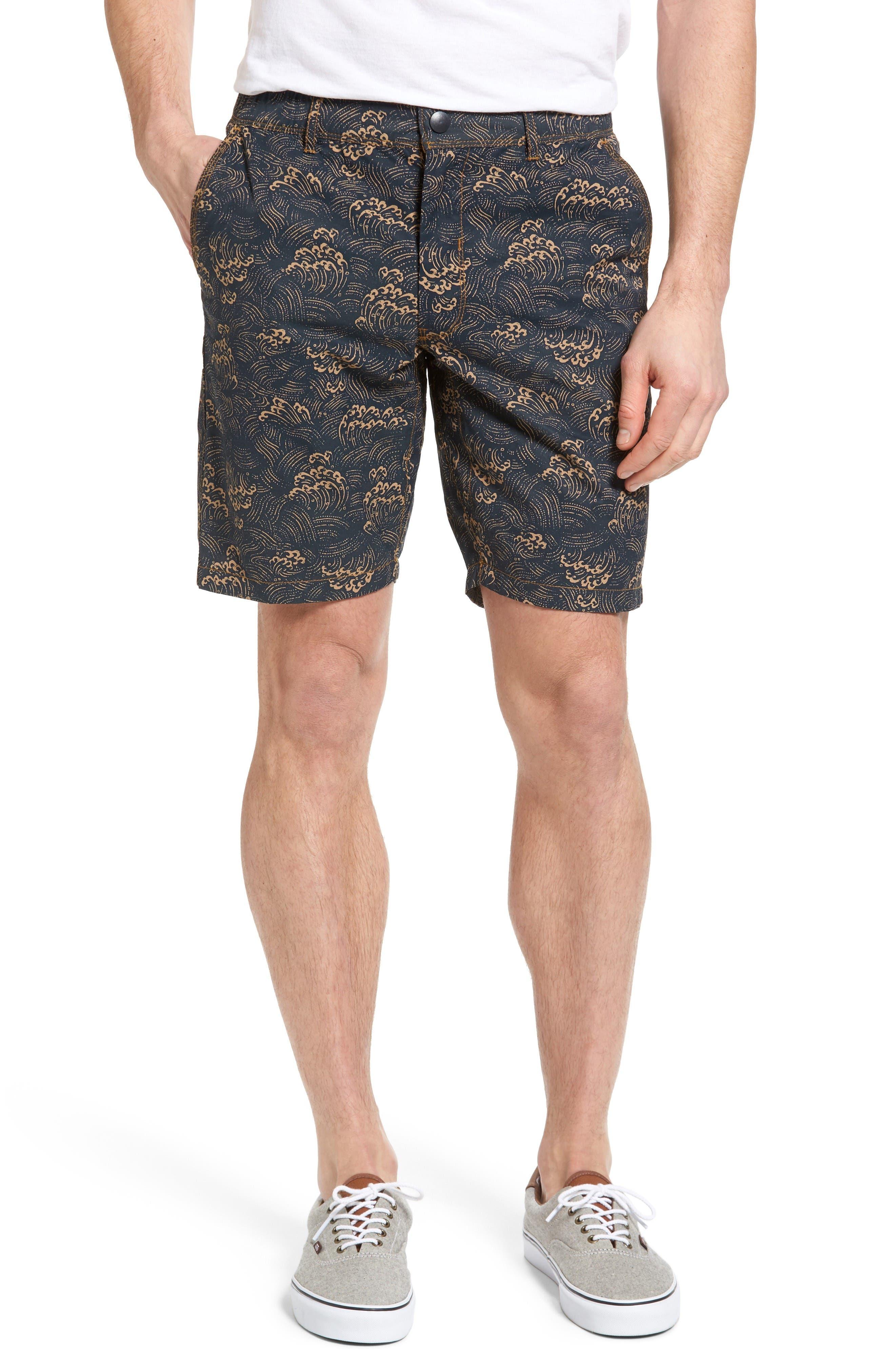 Big Surf Print Hybrid Shorts,                         Main,                         color, Admiral