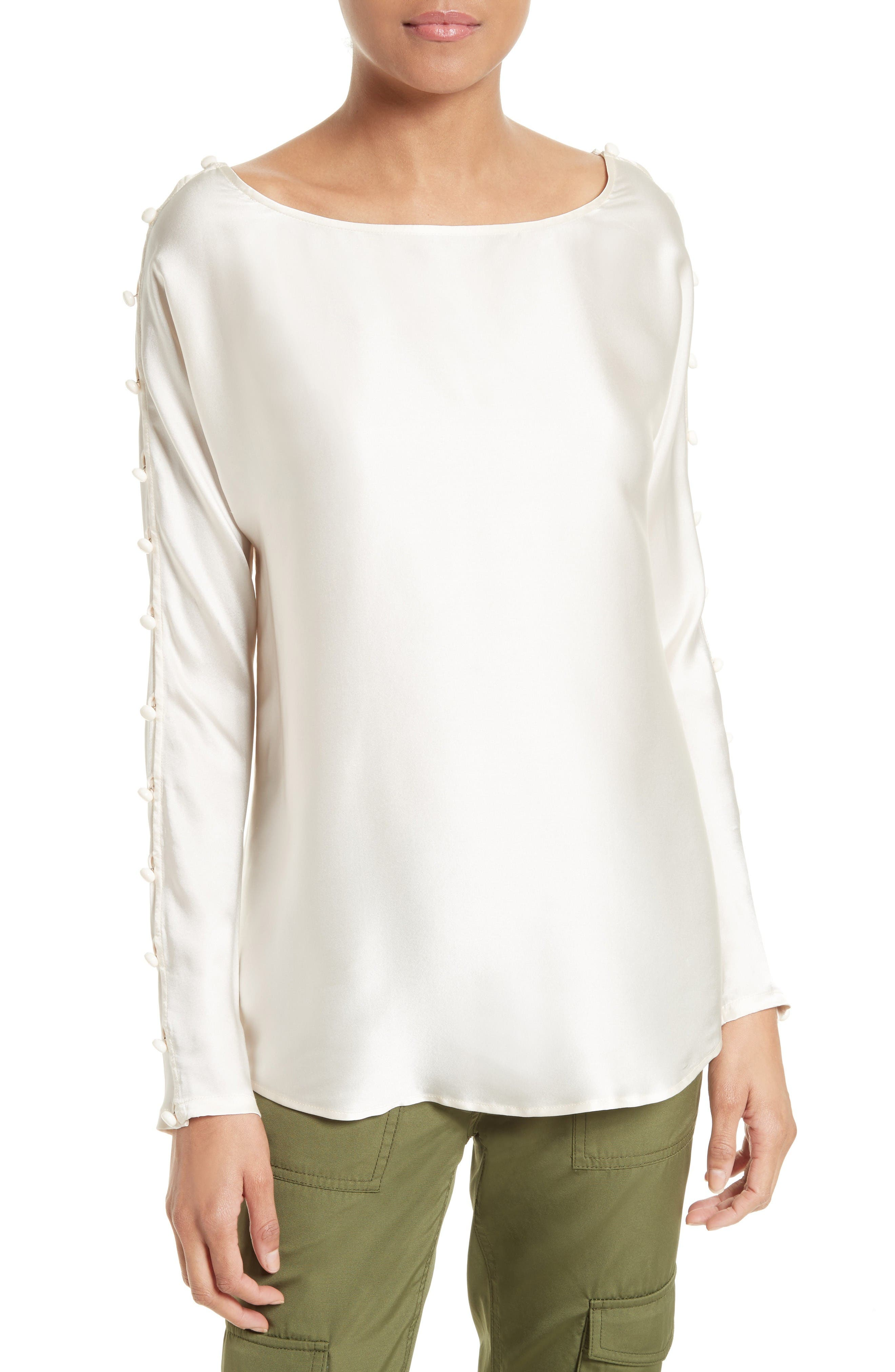 Tracy Reese Silk Charmeuse Top