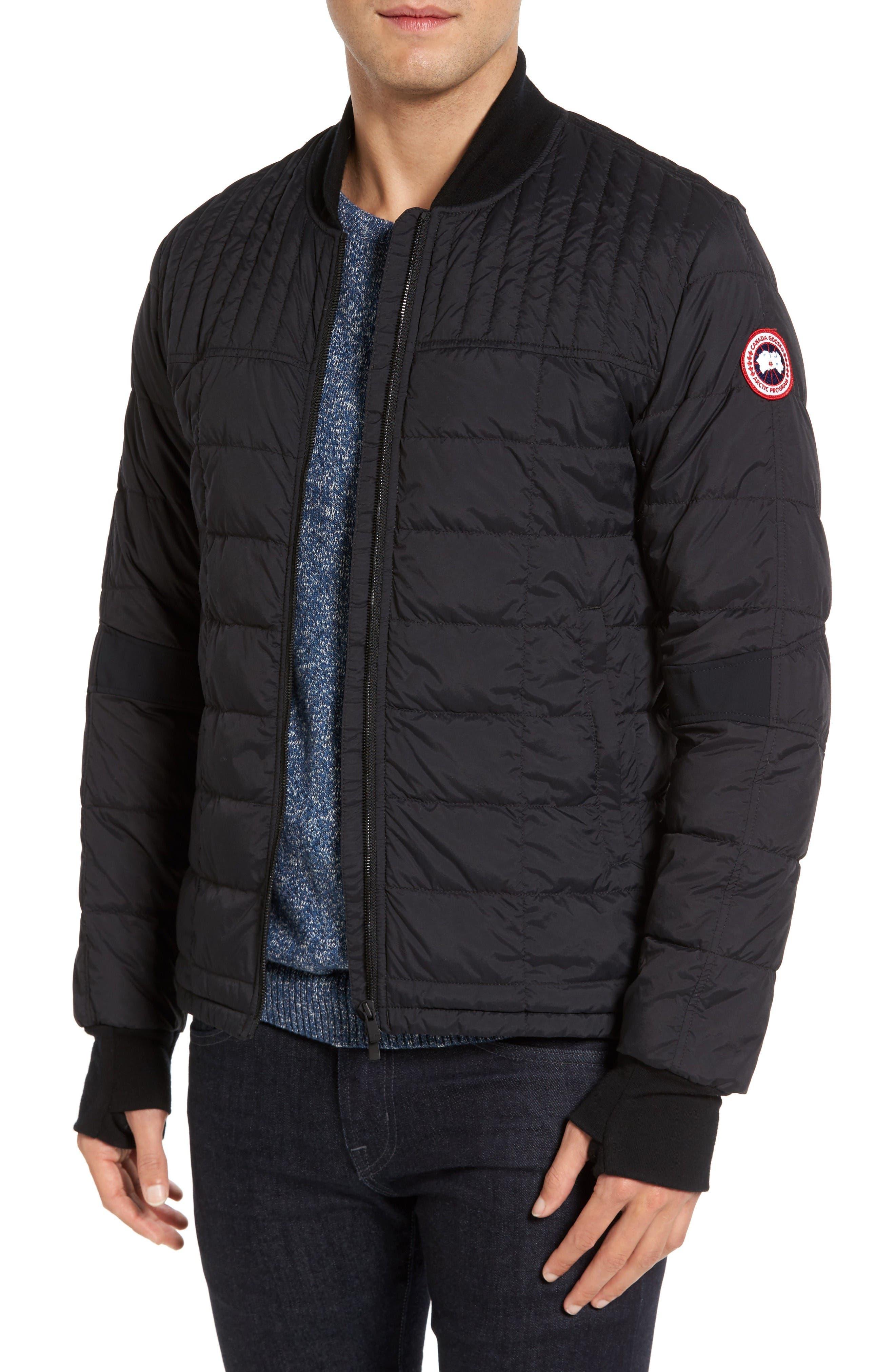 Dunham Down Bomber Jacket,                         Main,                         color, Black