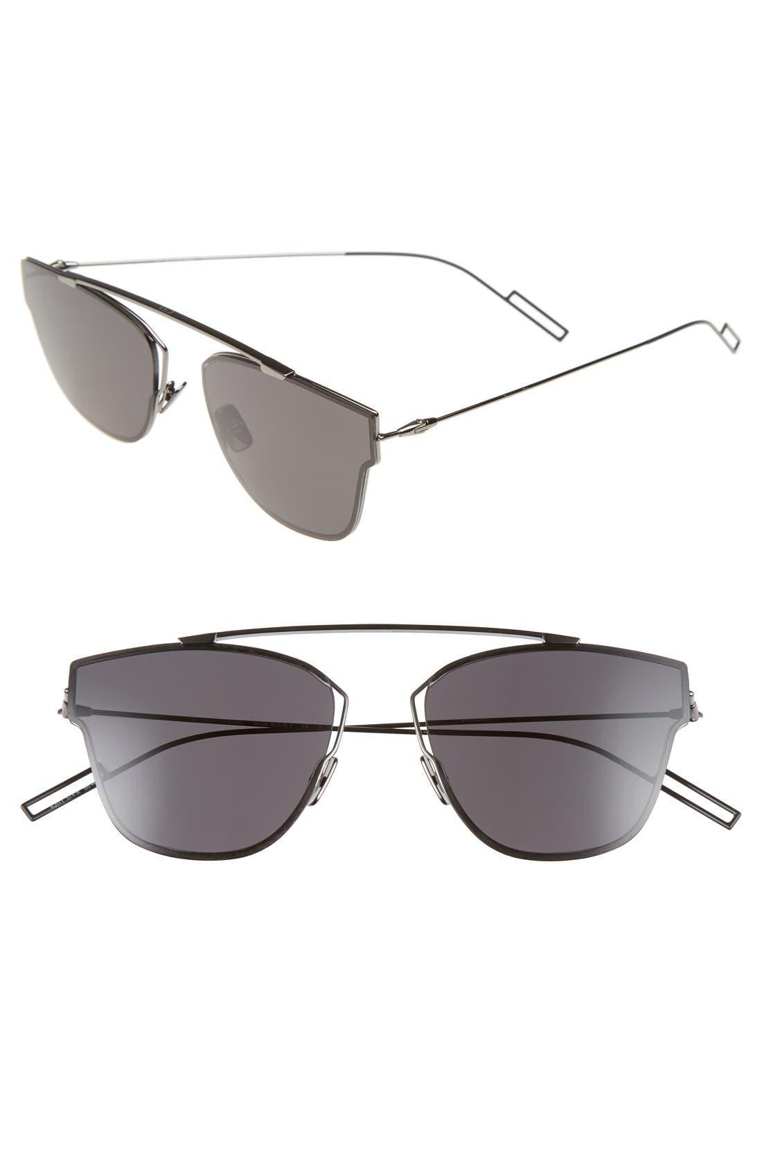 Dior Homme 57mm Semi Rimless Sunglasses