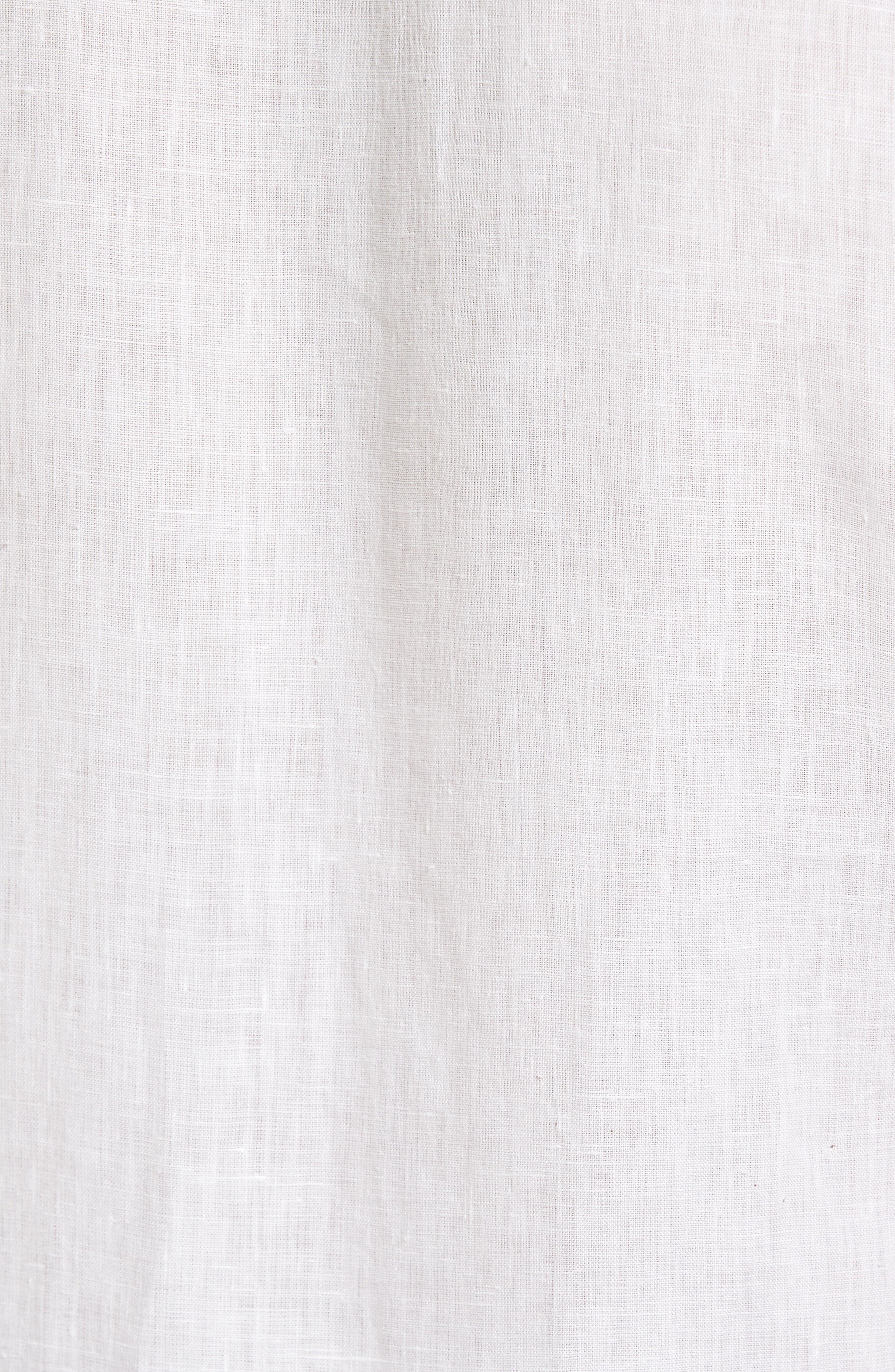 Kaplan Slim Fit Linen Sport Shirt,                             Alternate thumbnail 5, color,                             White