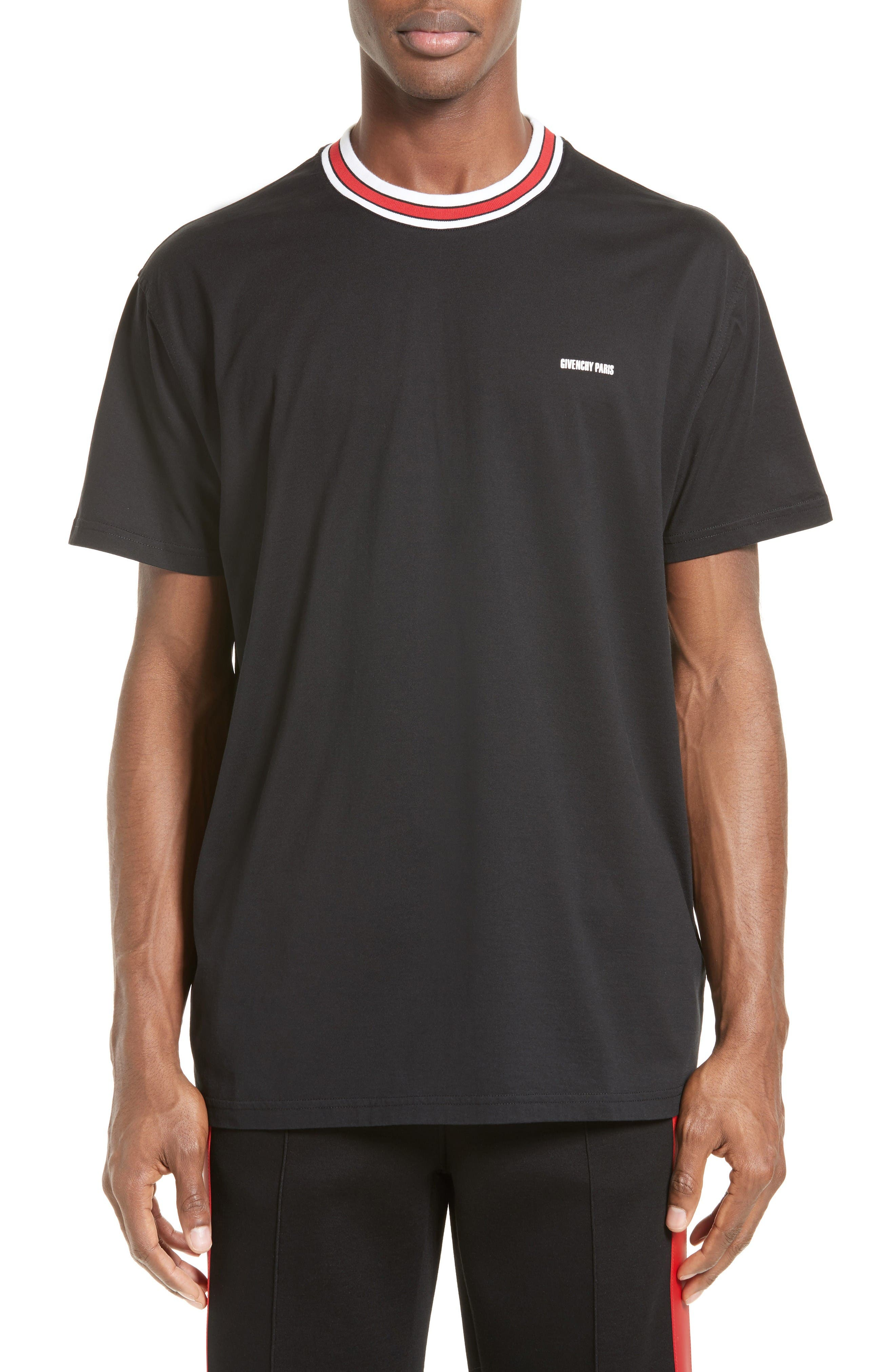 Logo Print Crewneck T-Shirt,                             Main thumbnail 1, color,                             Black