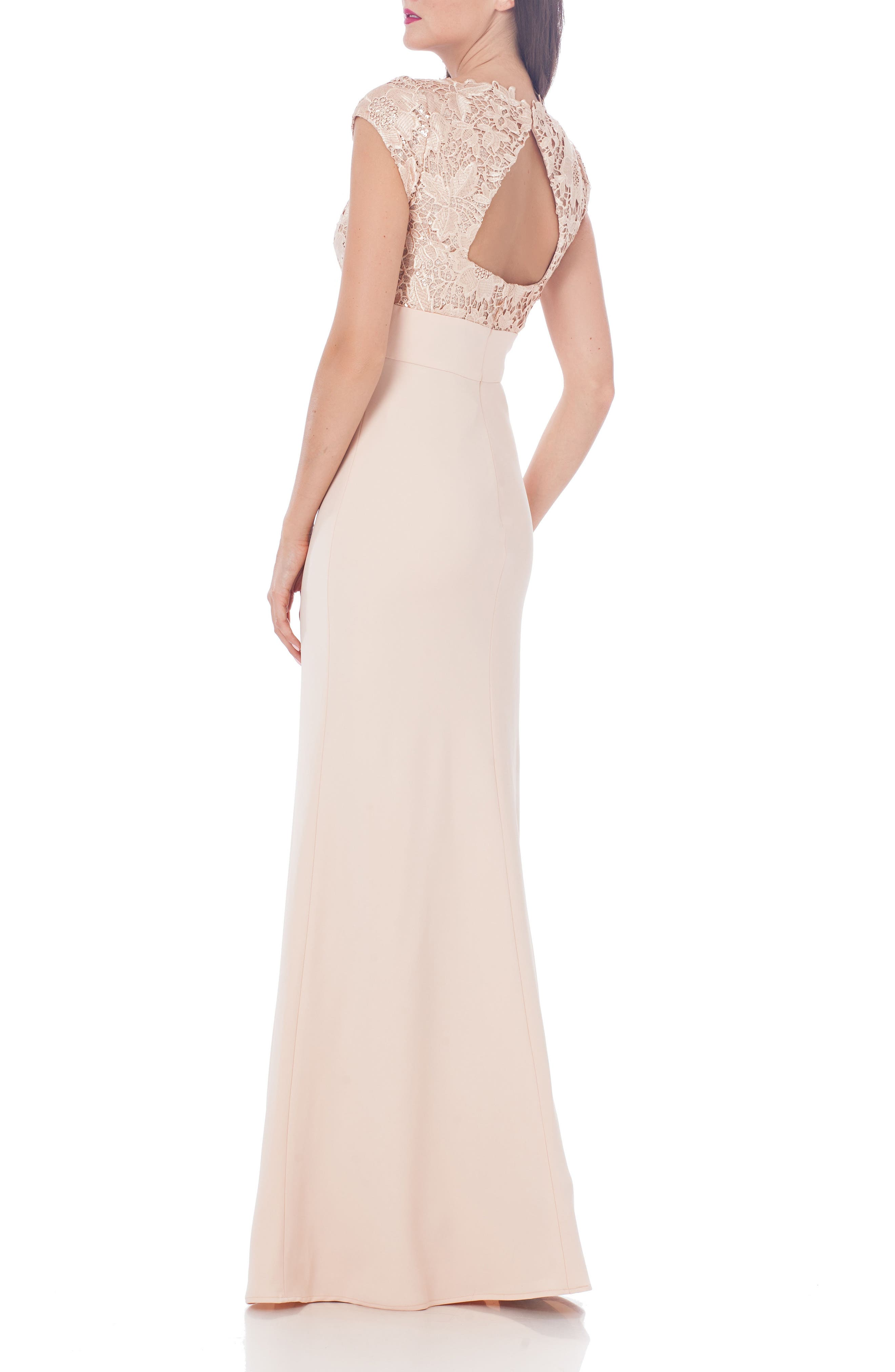 Alternate Image 2  - JS Collections Lace Column Gown