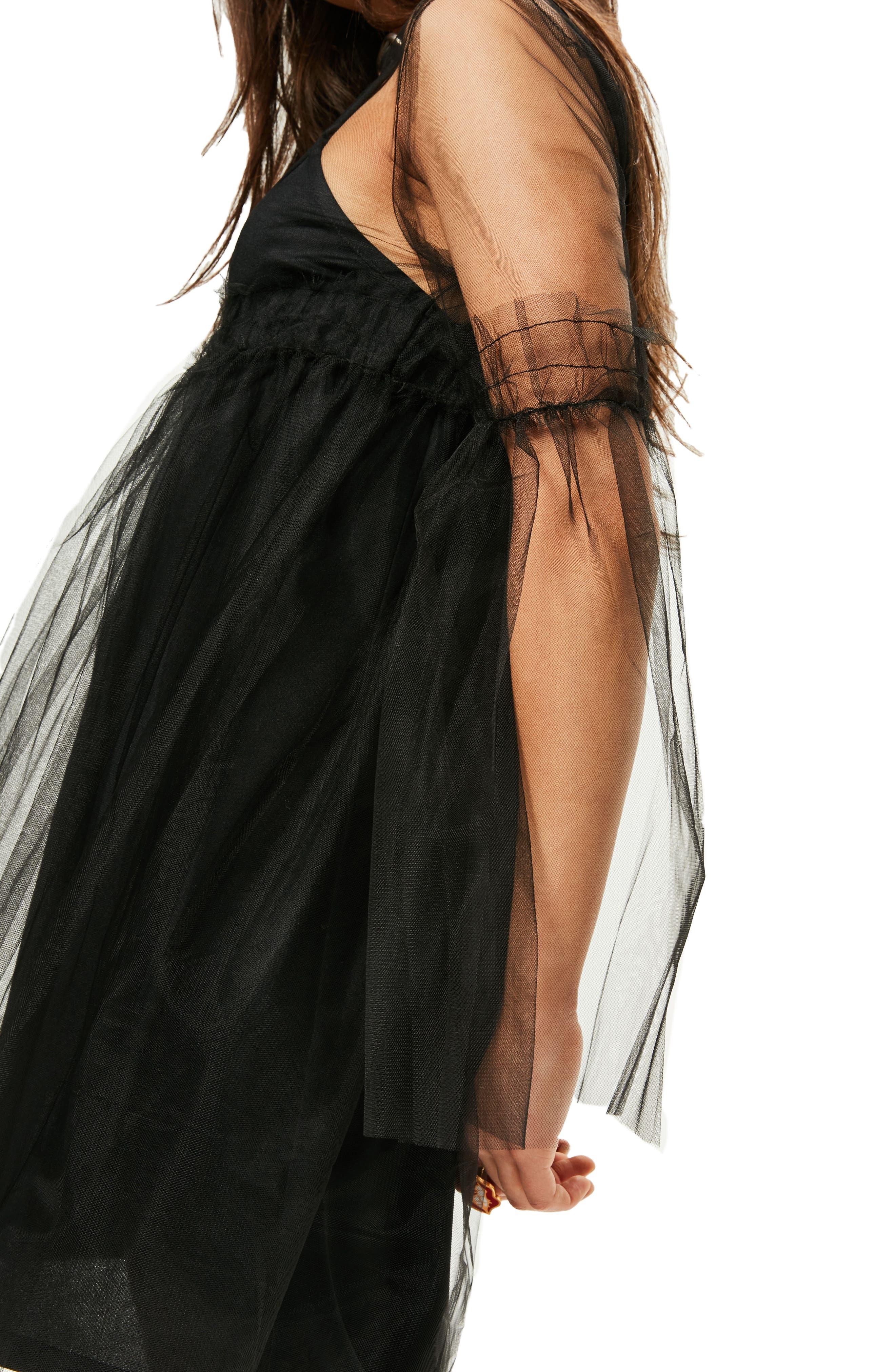 Alternate Image 5  - Missguided Tulle Mesh Minidress
