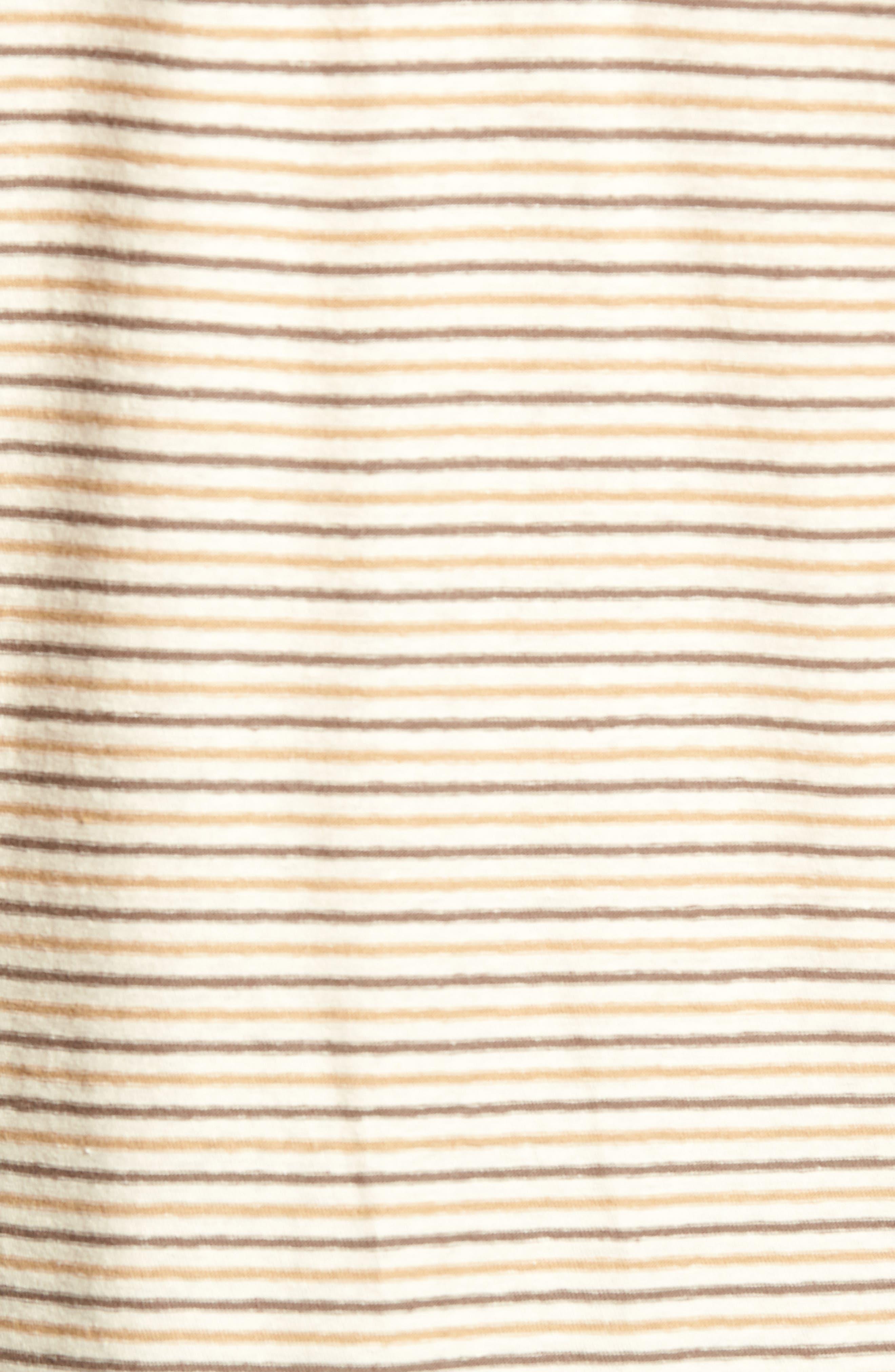 Bengal Reverse Stripe T-Shirt,                             Alternate thumbnail 5, color,                             Angora