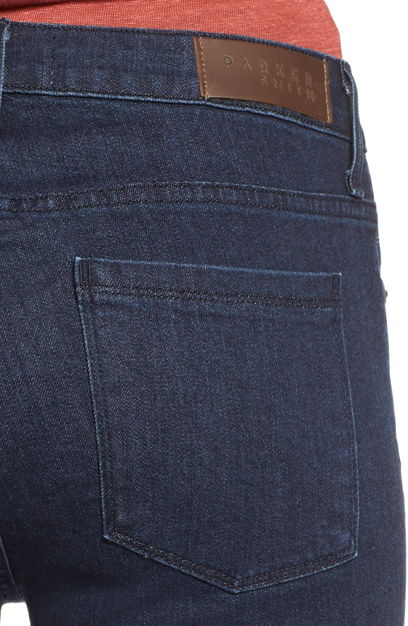 Alternate Image 5  - PARKER SMITH Brynna Crop Flare Jeans (Baltic)