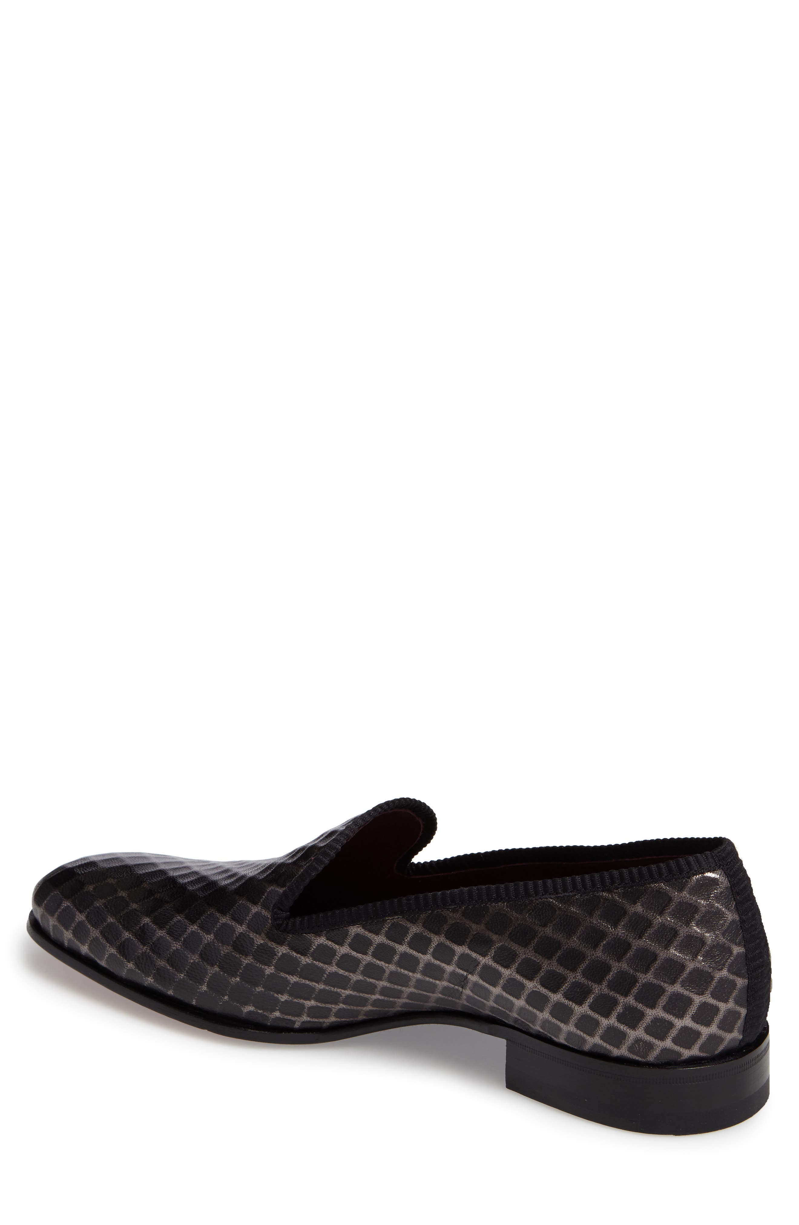 Hilbert Loafer,                             Alternate thumbnail 2, color,                             Grey Leather
