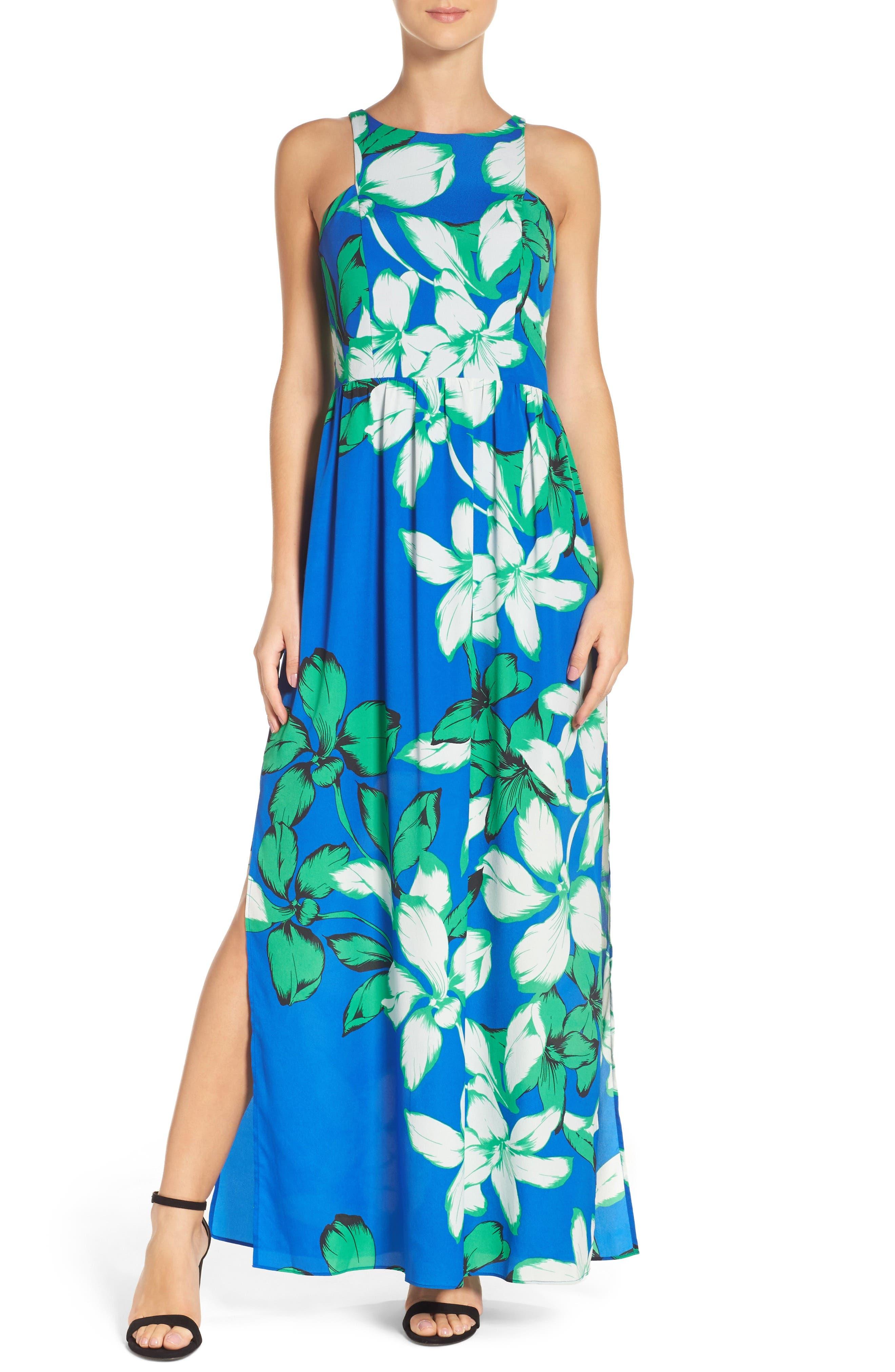 Main Image - Chelsea28 Cutaway Shoulder Maxi Dress