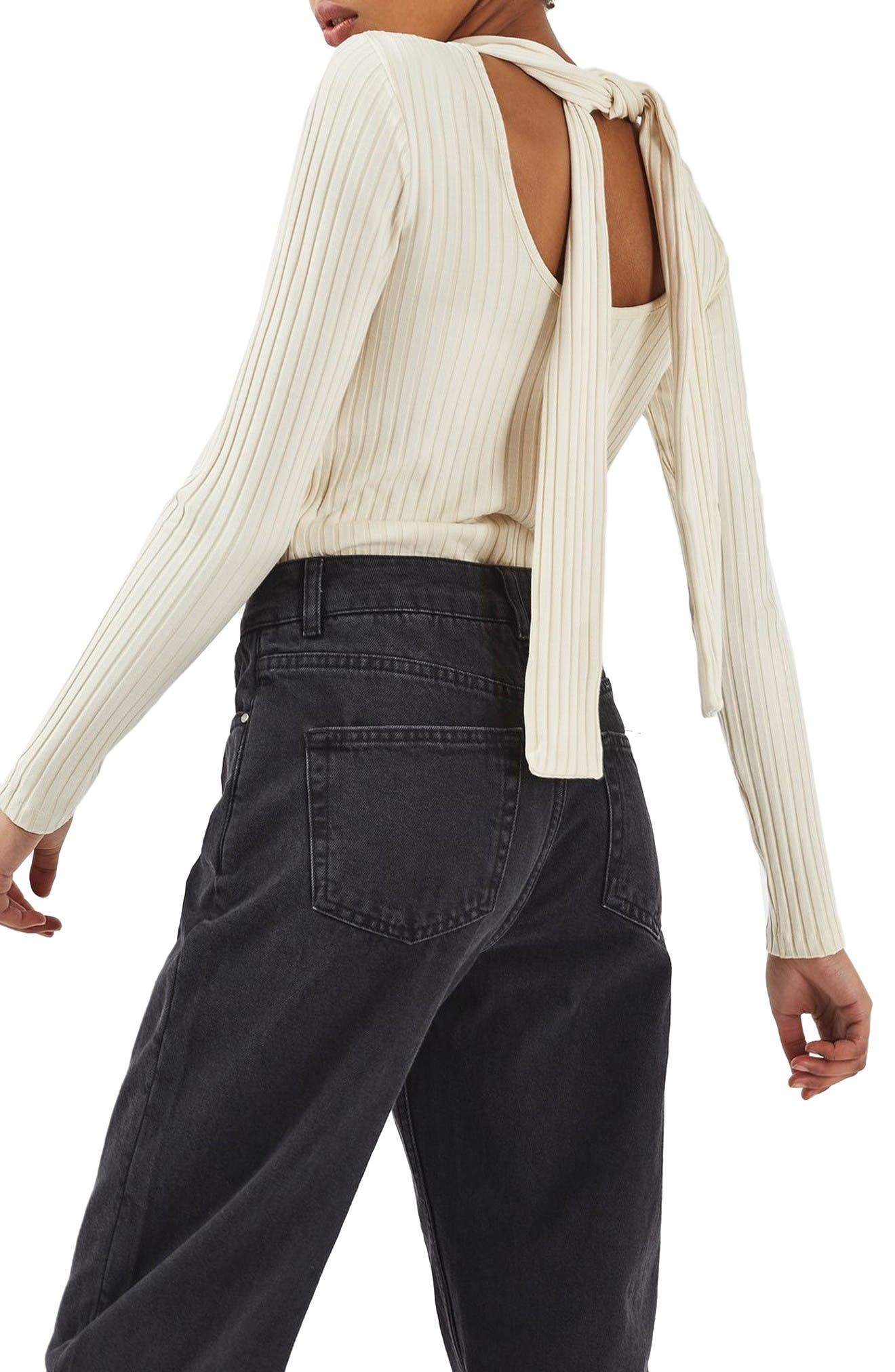 Alternate Image 4  - Topshop Boutique Tie Back Sweater