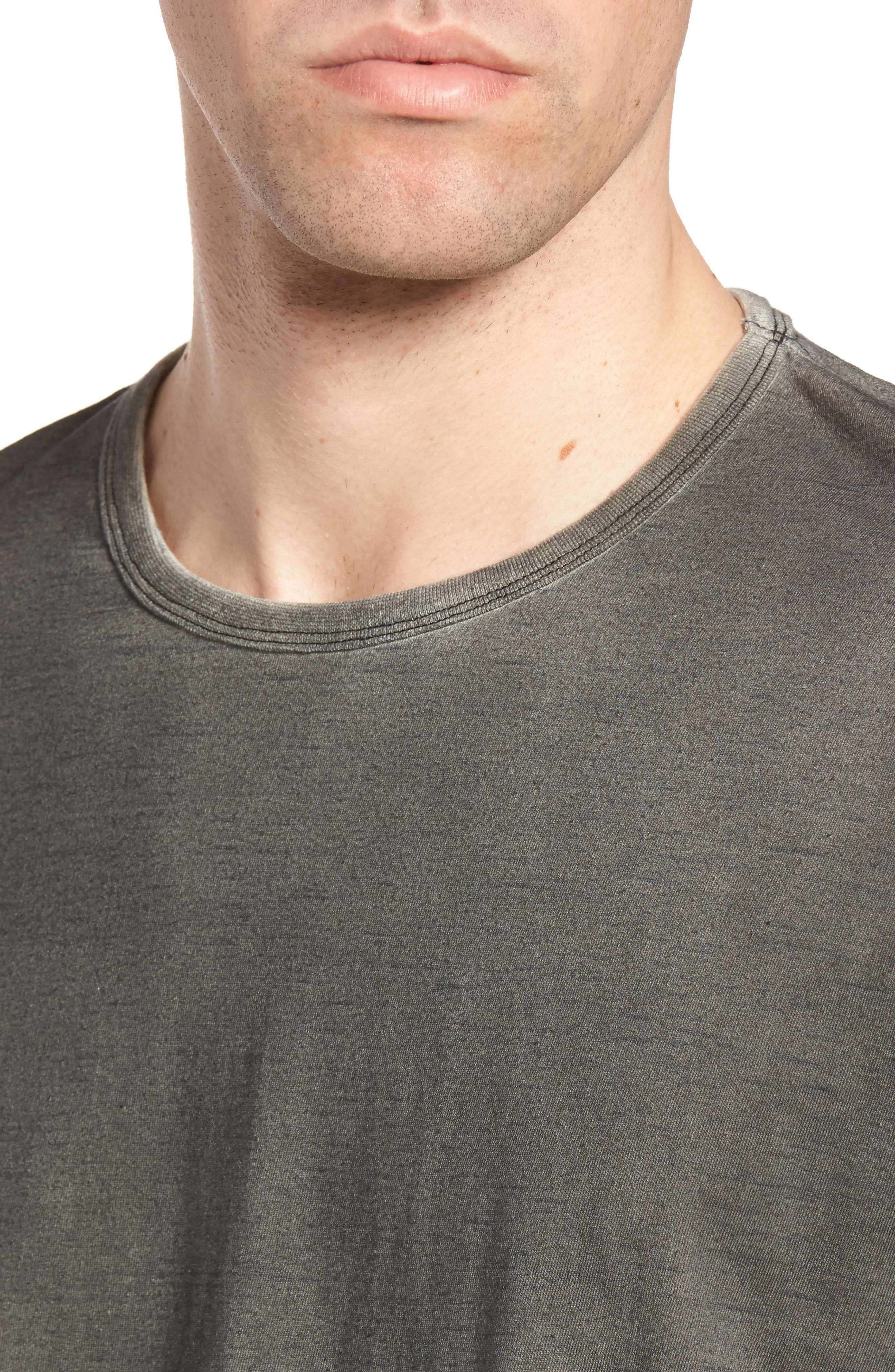 Kendrick Spray Heather Jersey T-Shirt,                             Alternate thumbnail 4, color,                             Coal
