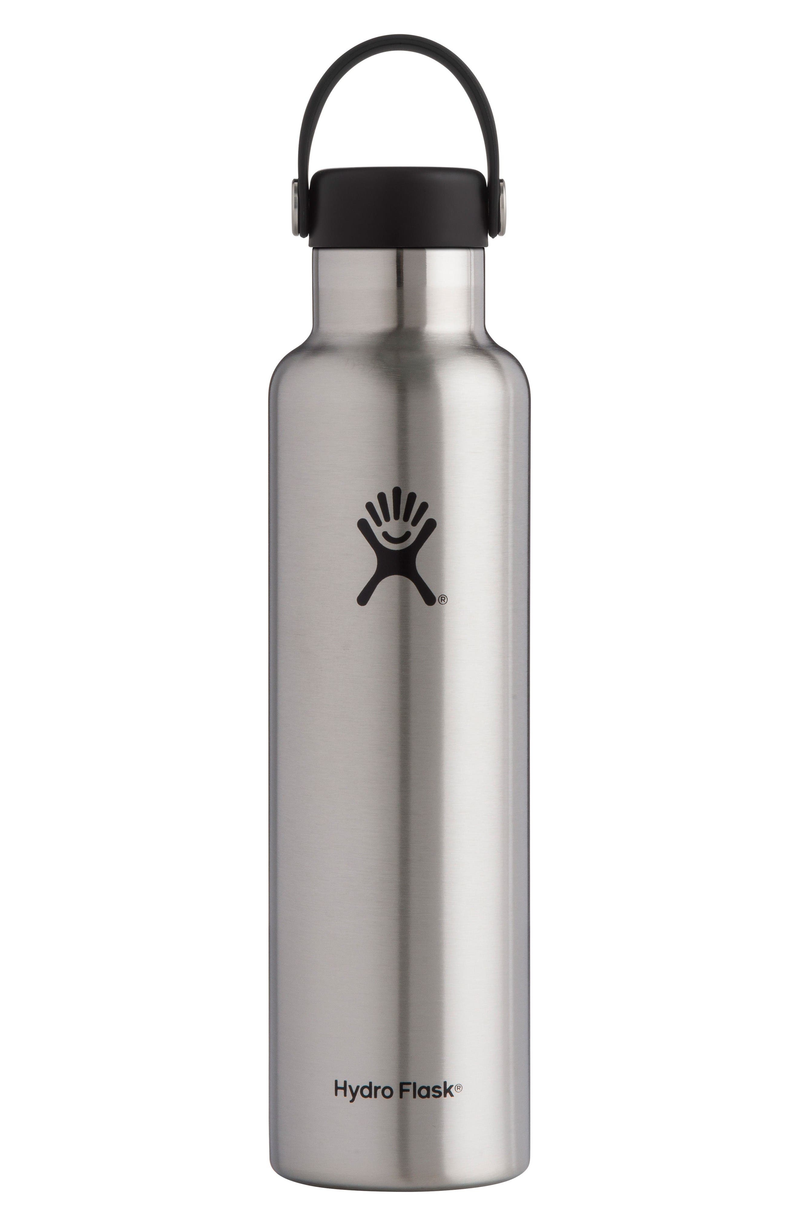 24-Ounce Standard Mouth Bottle,                             Main thumbnail 1, color,                             Stainless Steel