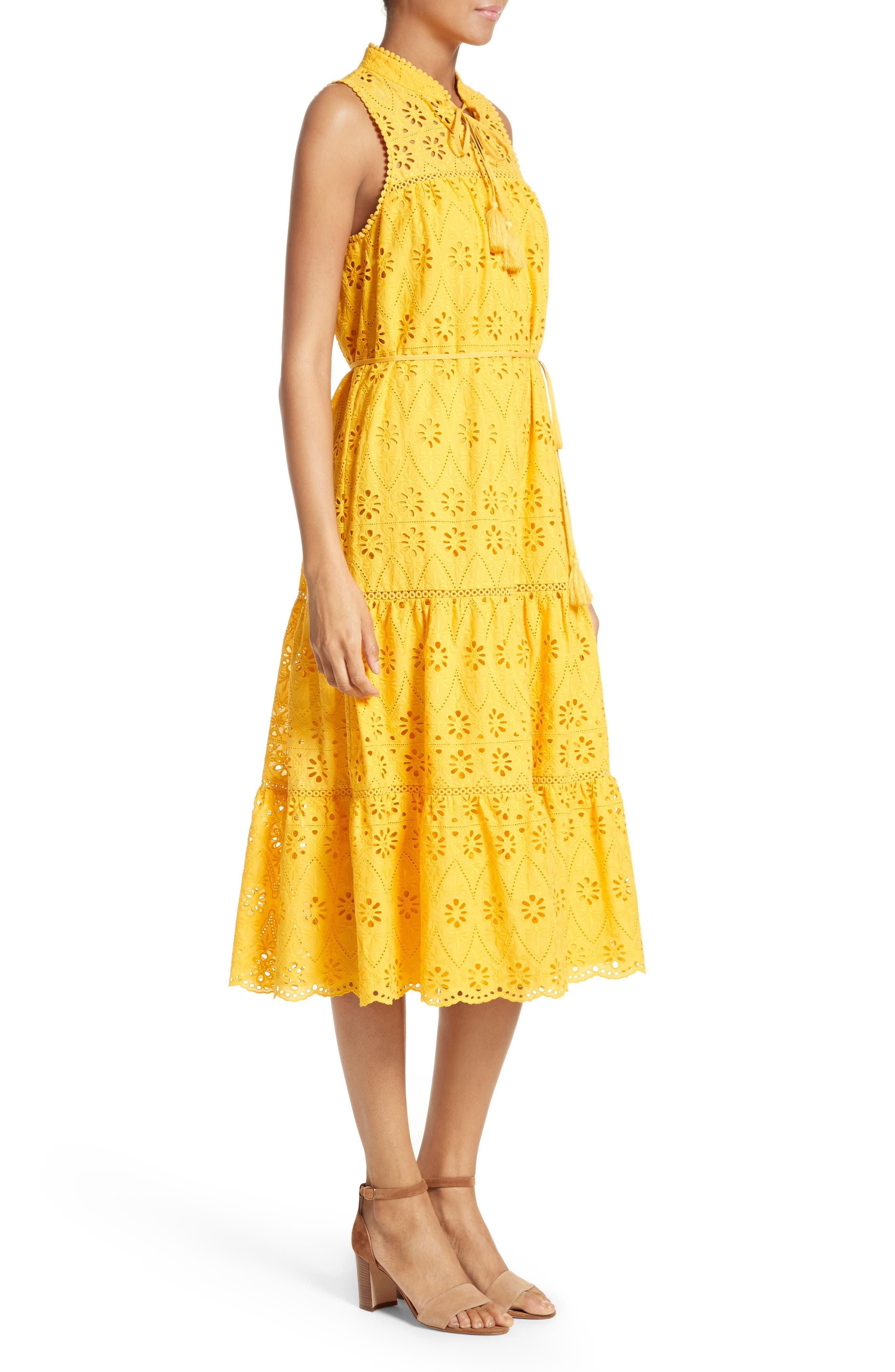 Alternate Image 3  - kate spade new york eyelet embroidered patio dress