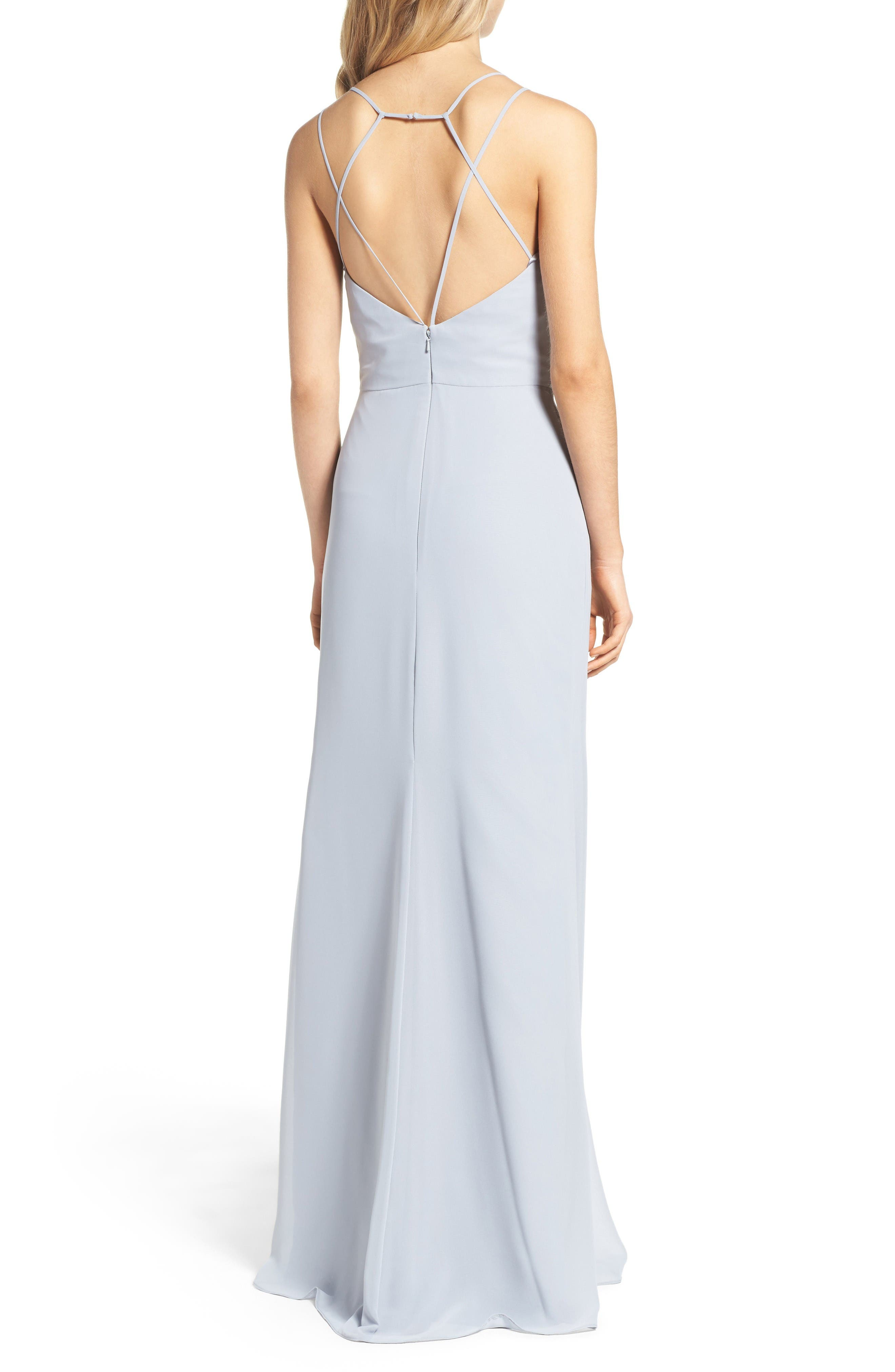 Alternate Image 2  - Hayley Paige Occasions Chiffon Gown