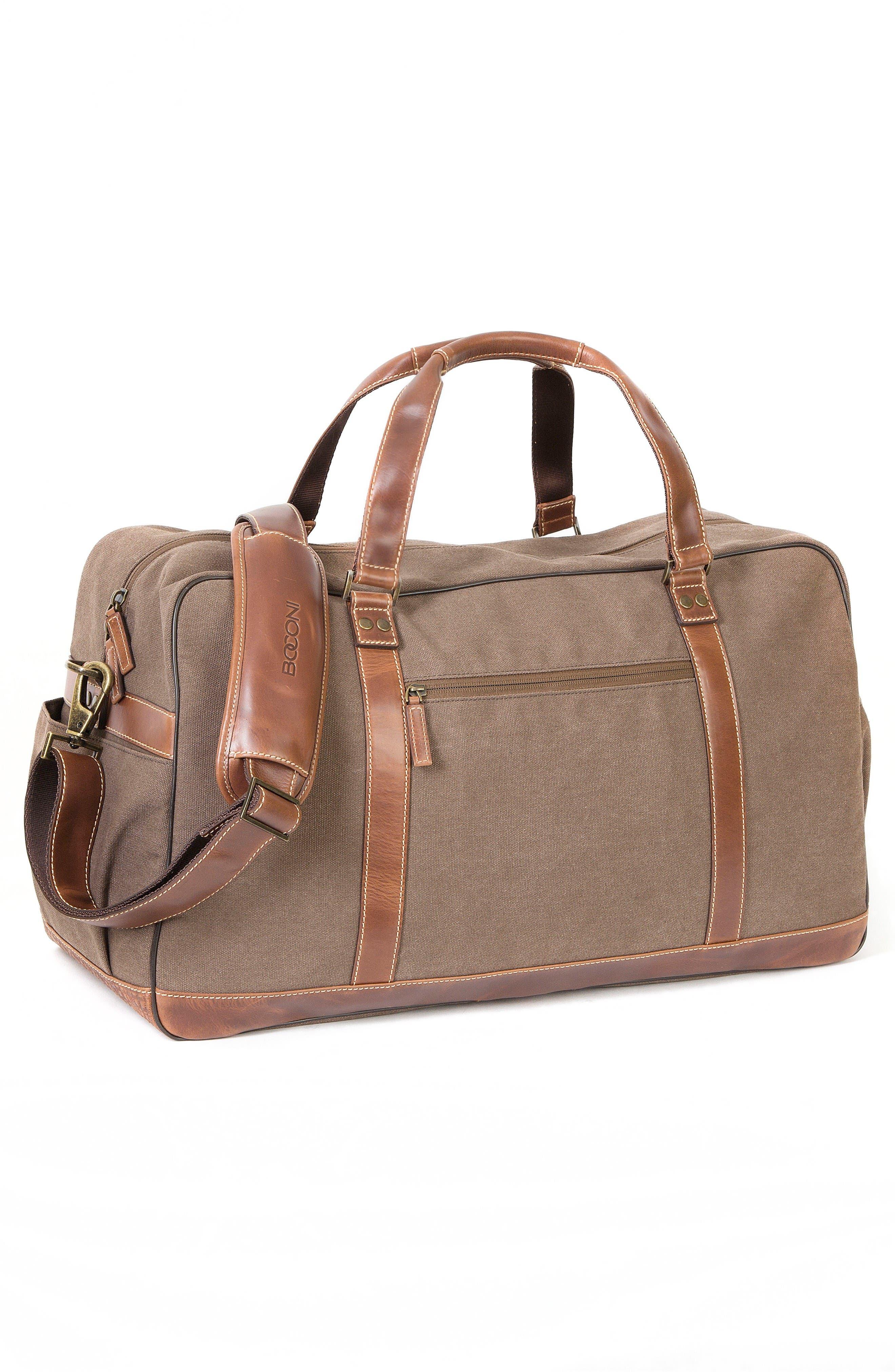 Bryant LTE Getaway Duffel Bag,                             Alternate thumbnail 5, color,                             Antique Mahogany/ Brown