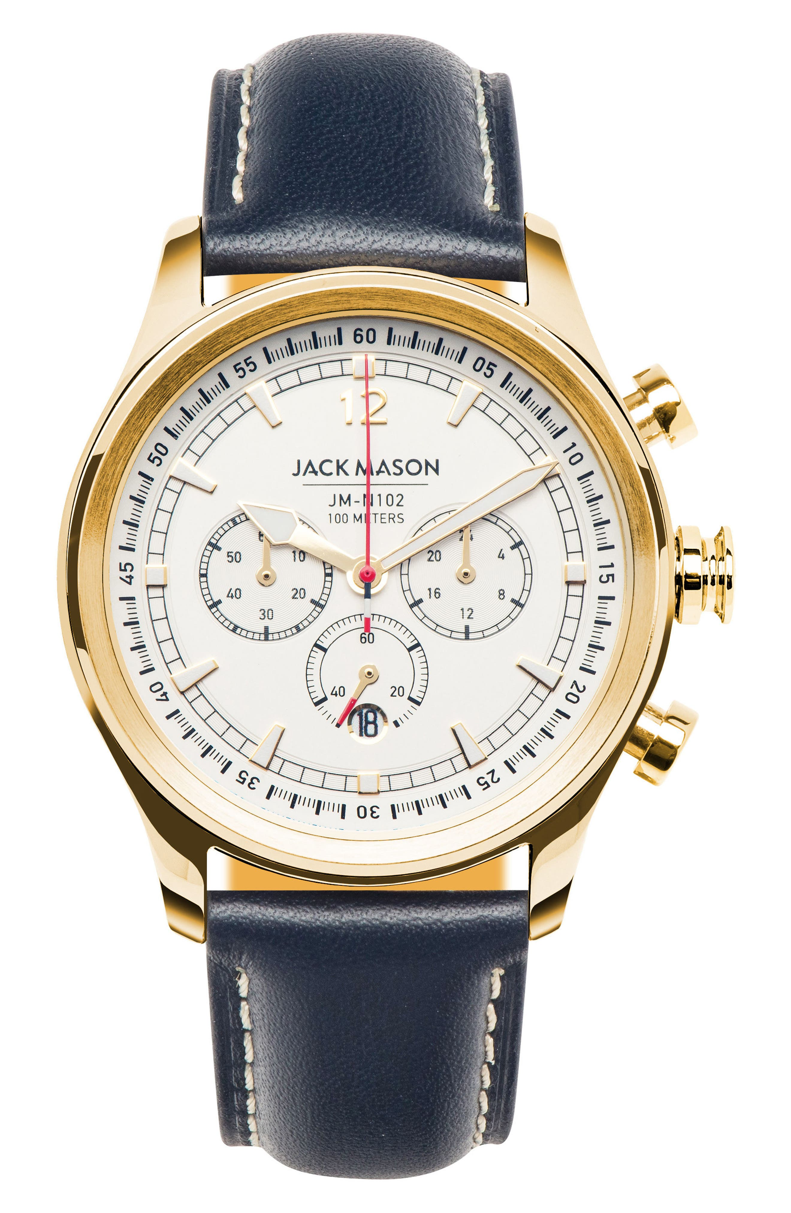 Nautical Chronograph Watch, 42mm,                         Main,                         color, White/ Navy