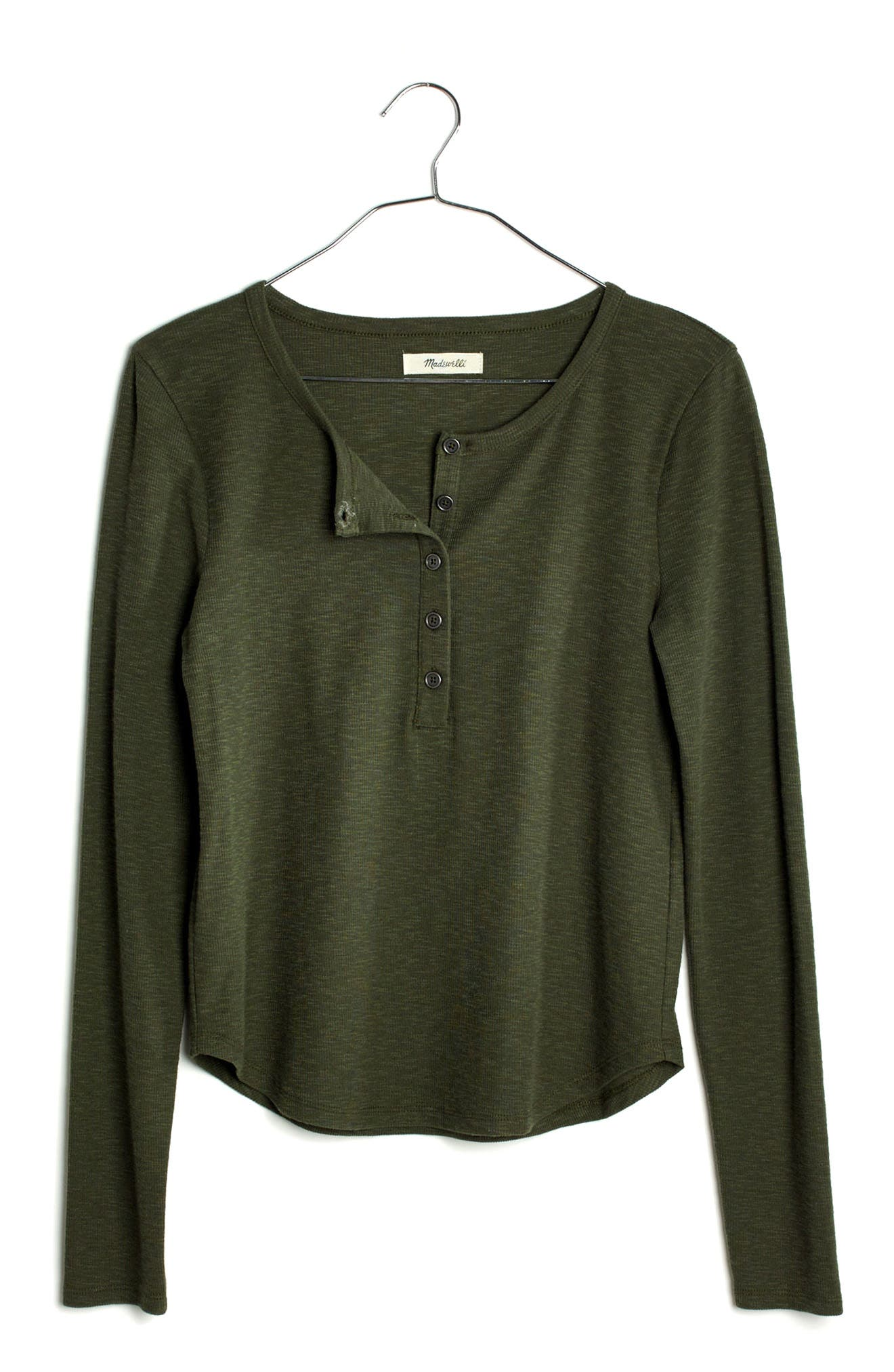 Alternate Image 3  - Madewell Sound Ribbed Henley Tee