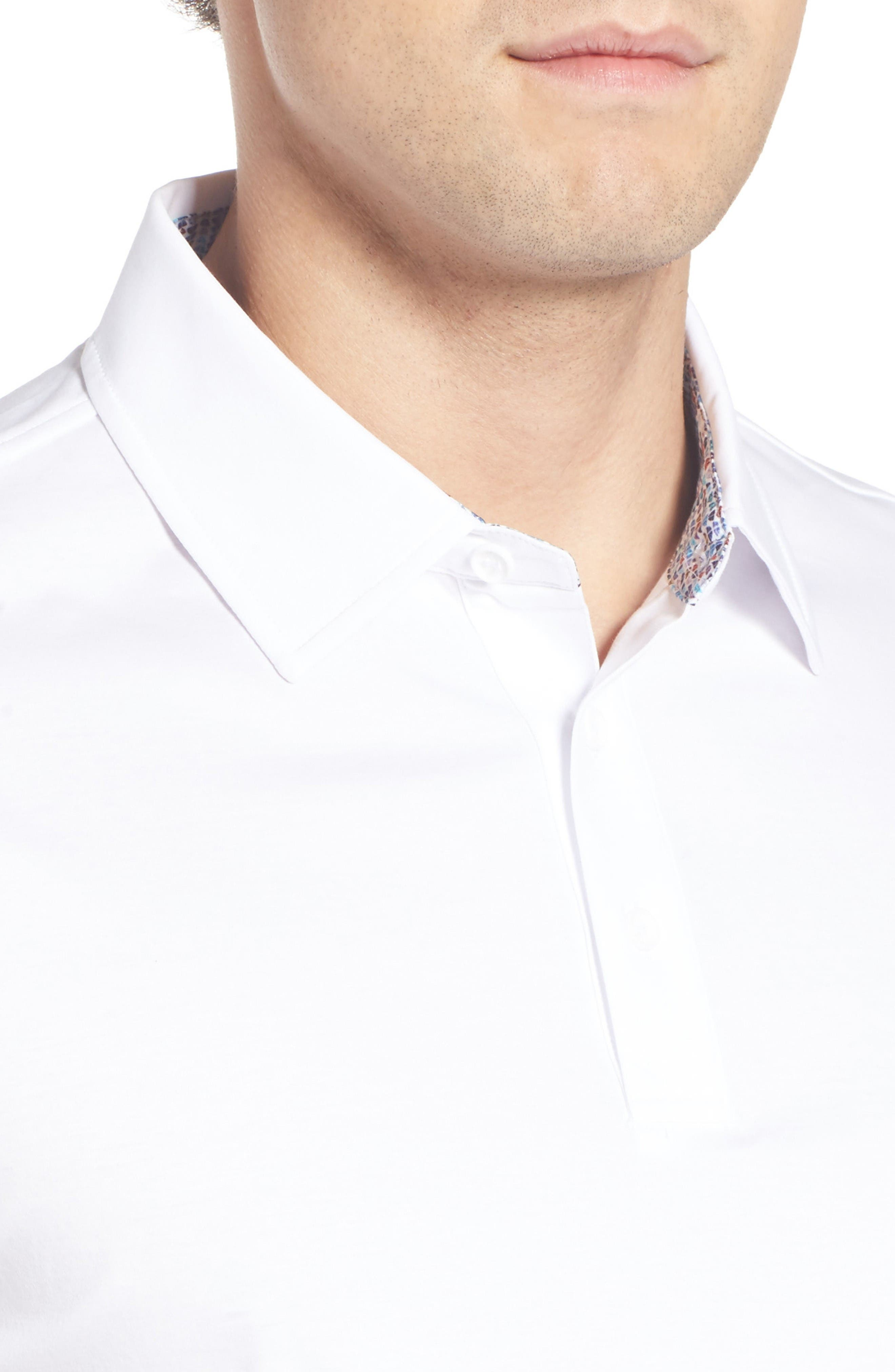 Jersey Polo,                             Alternate thumbnail 4, color,                             White