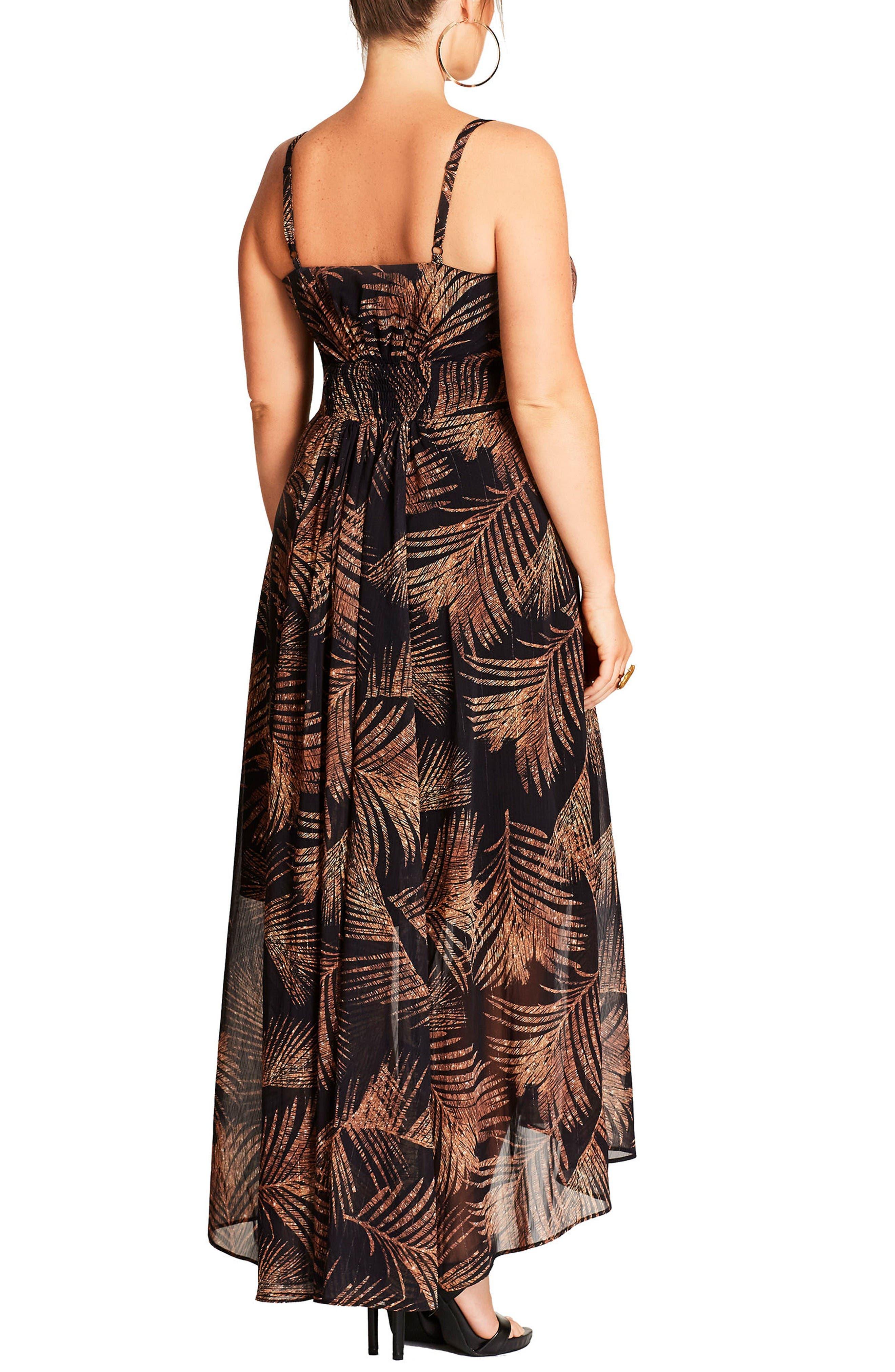 Alternate Image 2  - City Chic Party Time Print Chiffon Maxi Dress (Plus Size)