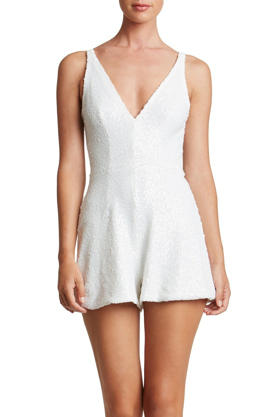 Main Image - Dress the Population Blake Sequin Romper