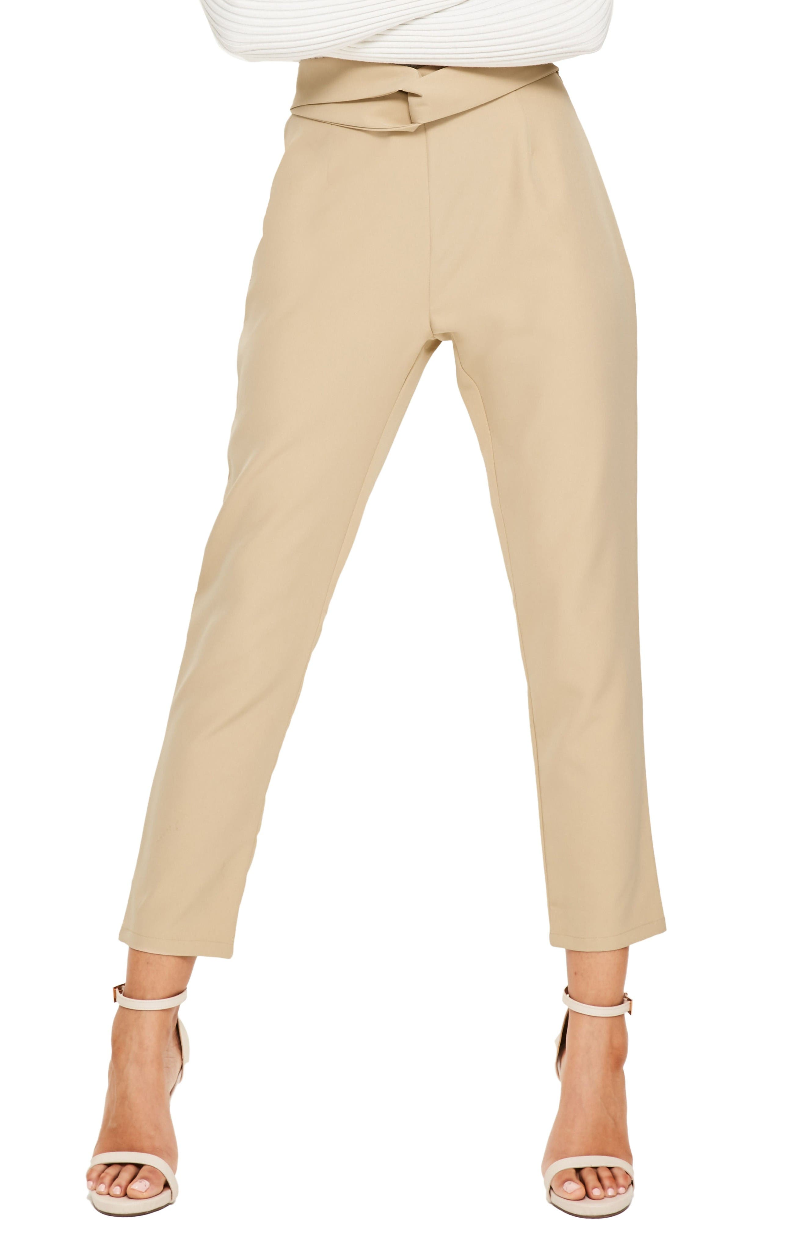 Main Image - Missguided Cigarette Trousers