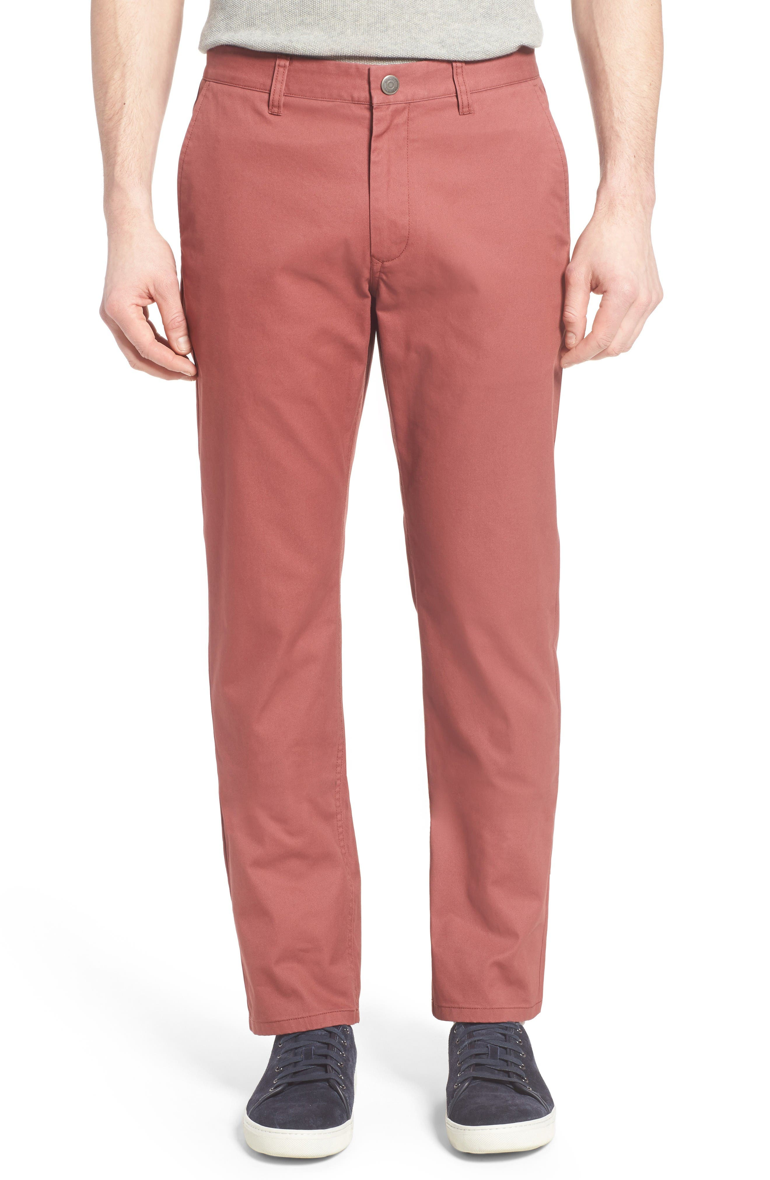 Straight Fit Washed Chinos,                         Main,                         color, Fire Roasted