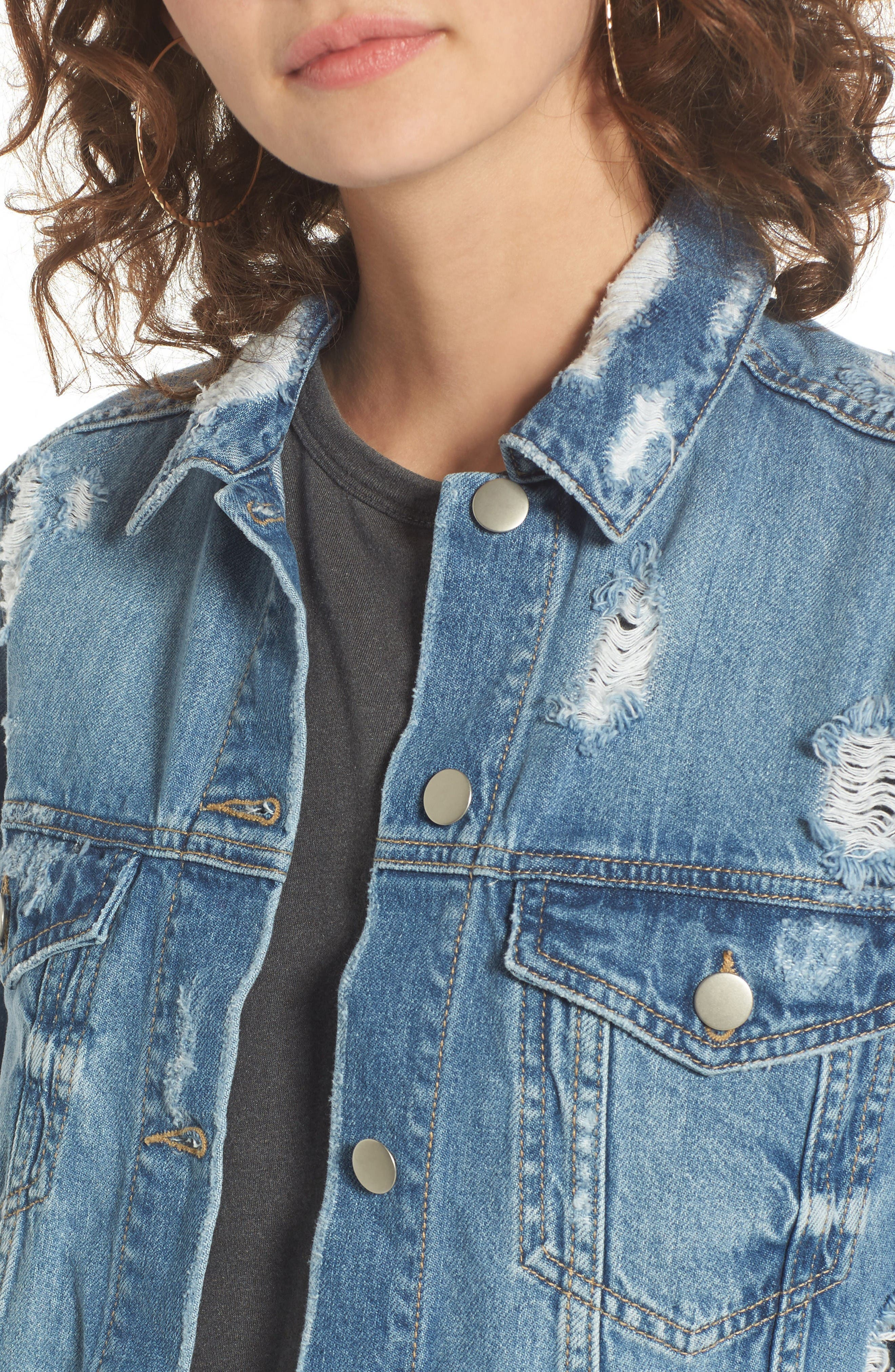 Alternate Image 4  - BP. Ripped Denim Jacket
