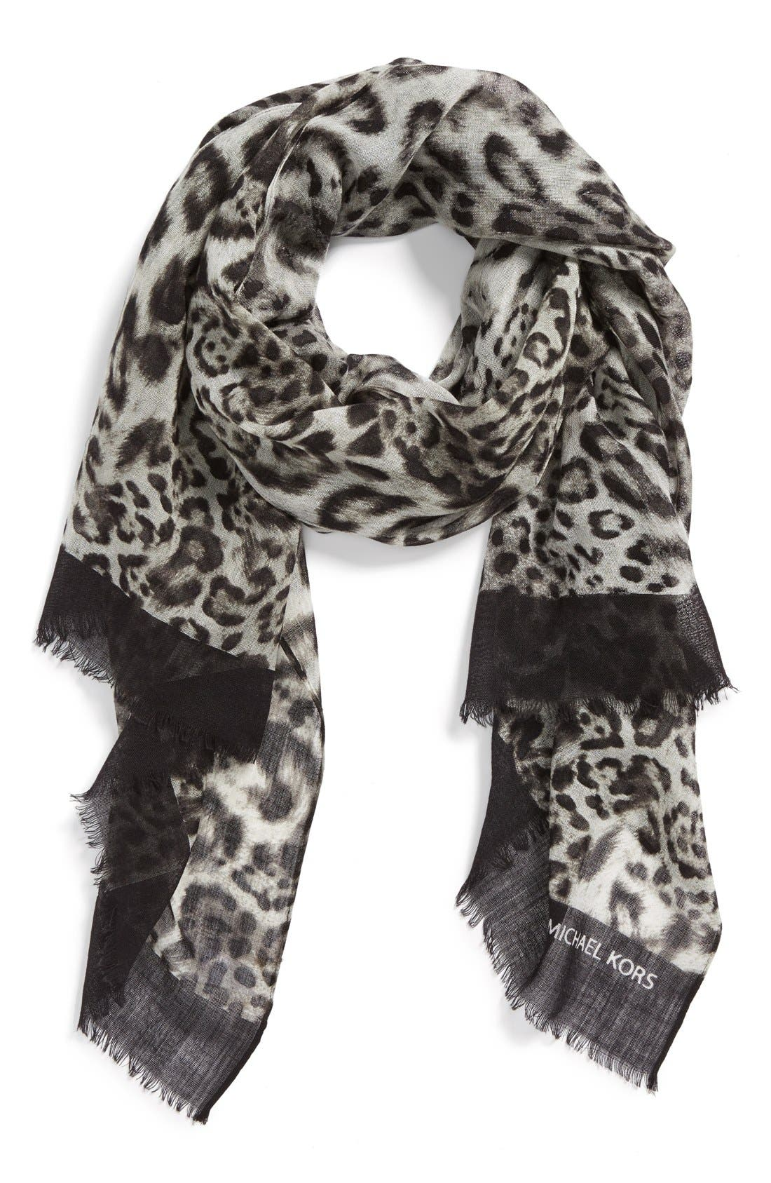 Main Image - MICHAEL Michael Kors 'Fremont' Wool Scarf