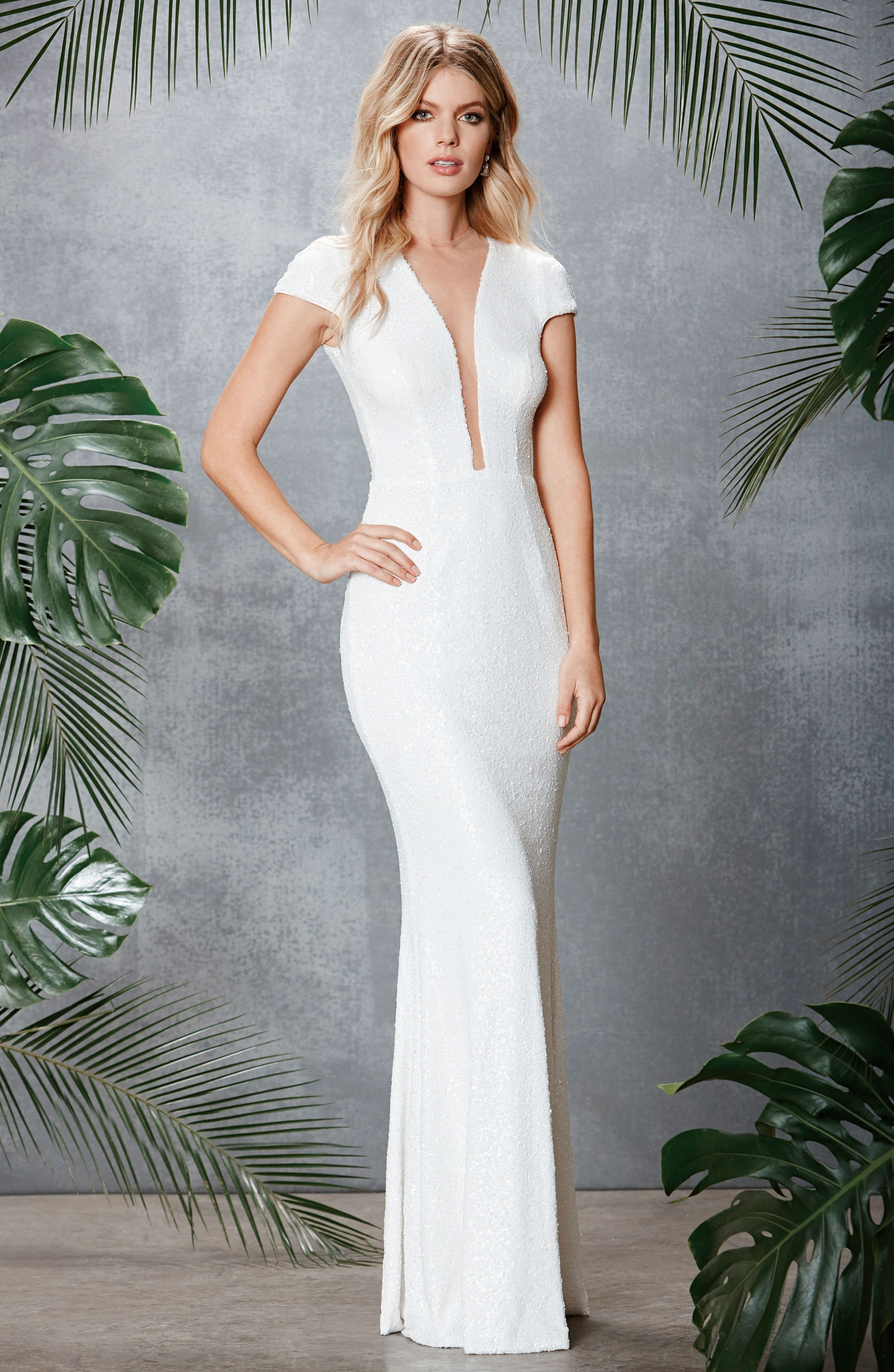 Alternate Image 2  - Dress the Population Michelle Sequin Gown (Nordstrom Exclusive)