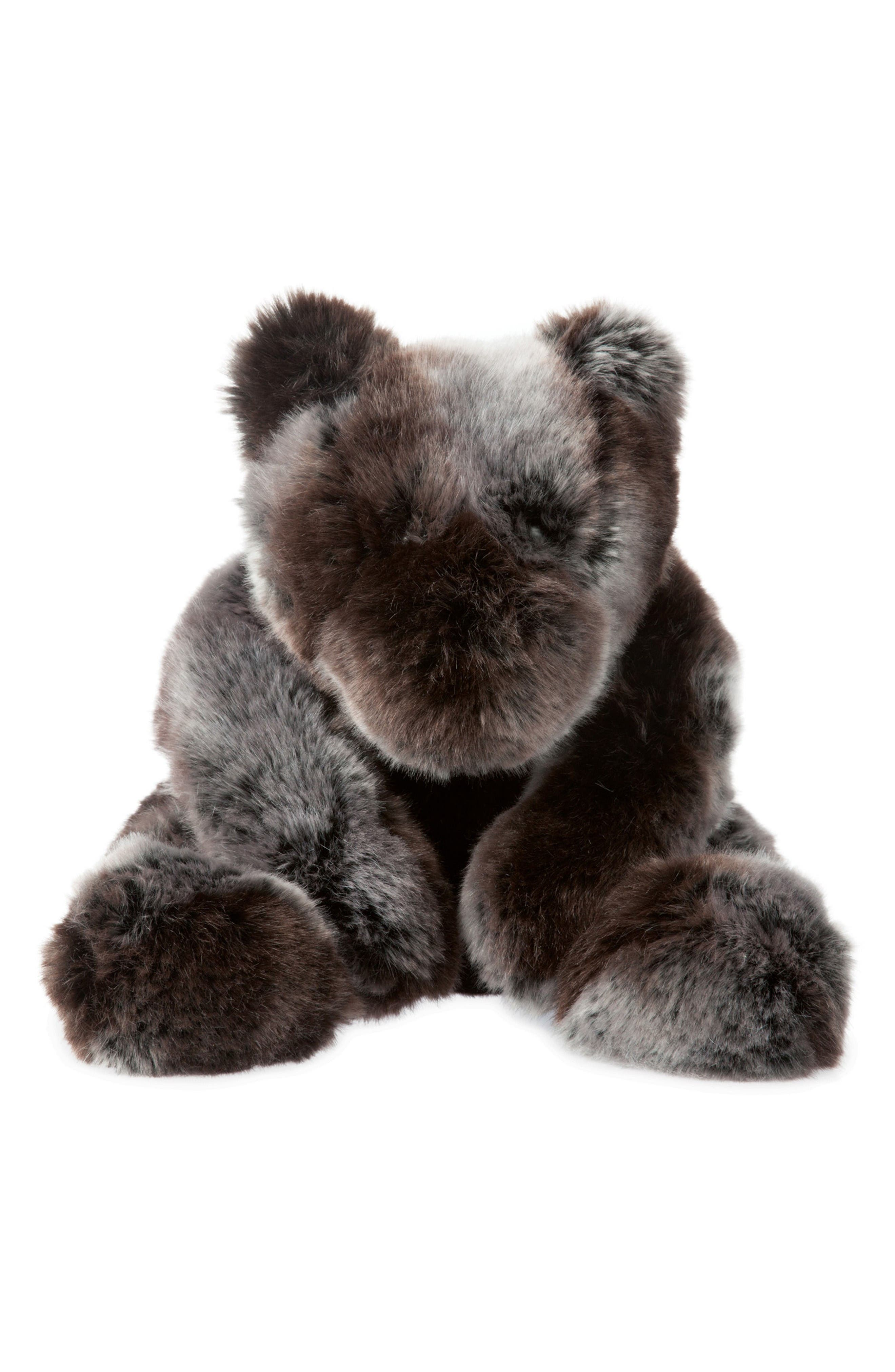 Luxe Sable Bear Stuffed Animal,                             Main thumbnail 1, color,                             Brown