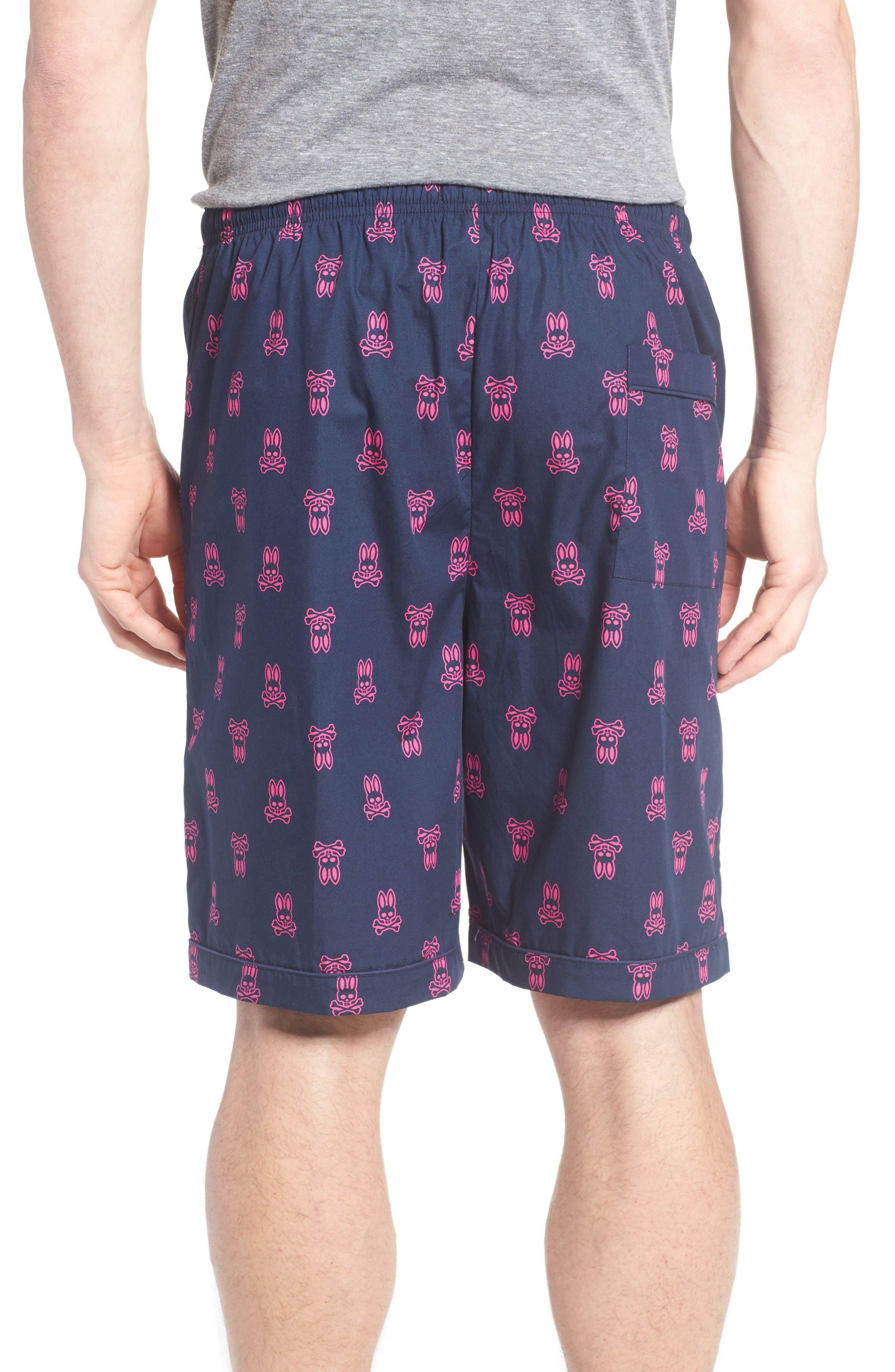 Cotton Lounge Shorts,                             Alternate thumbnail 2, color,                             Peacoat Bunny