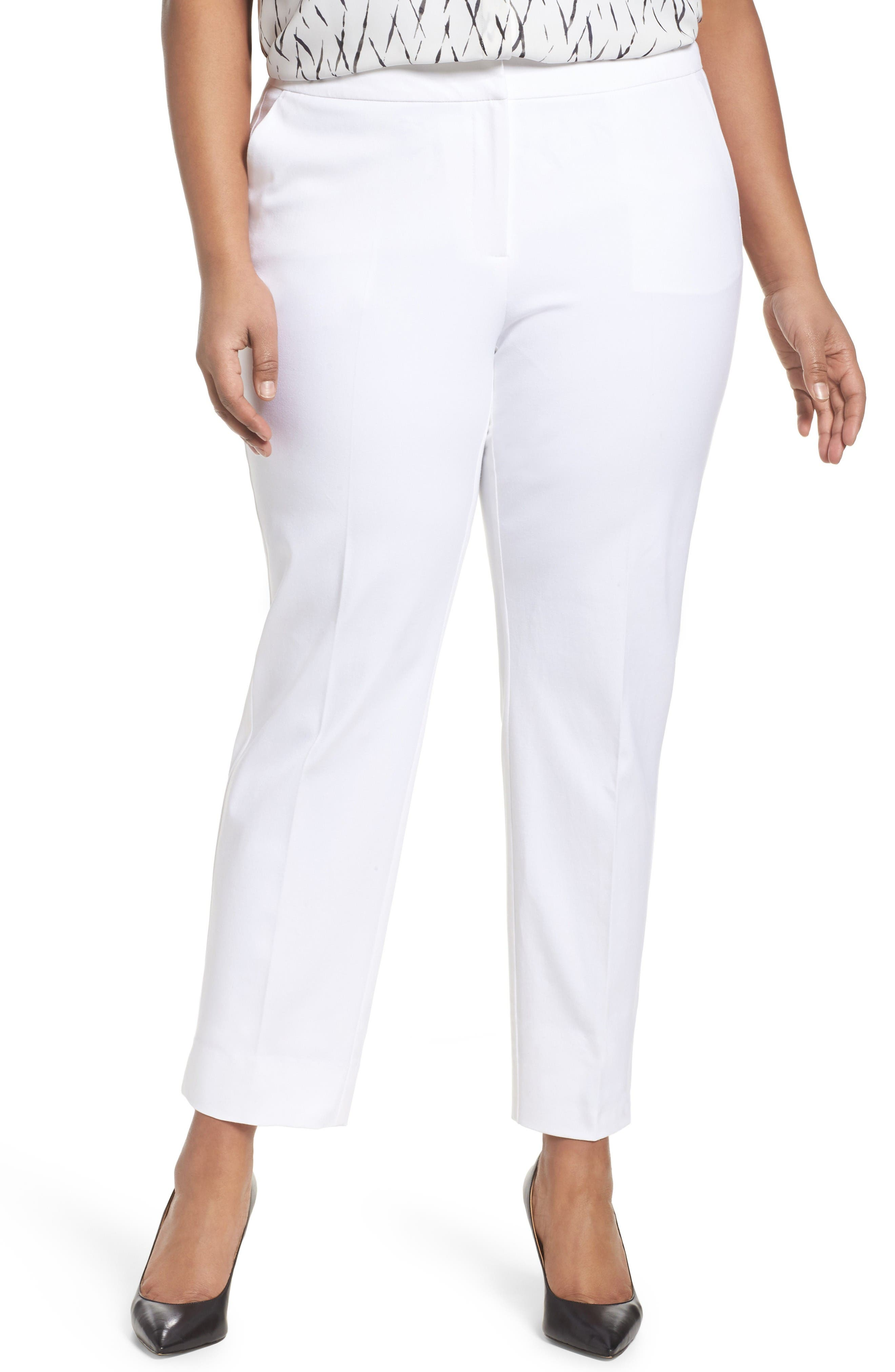Sejour Straight Leg Ankle Pants (Plus Size)