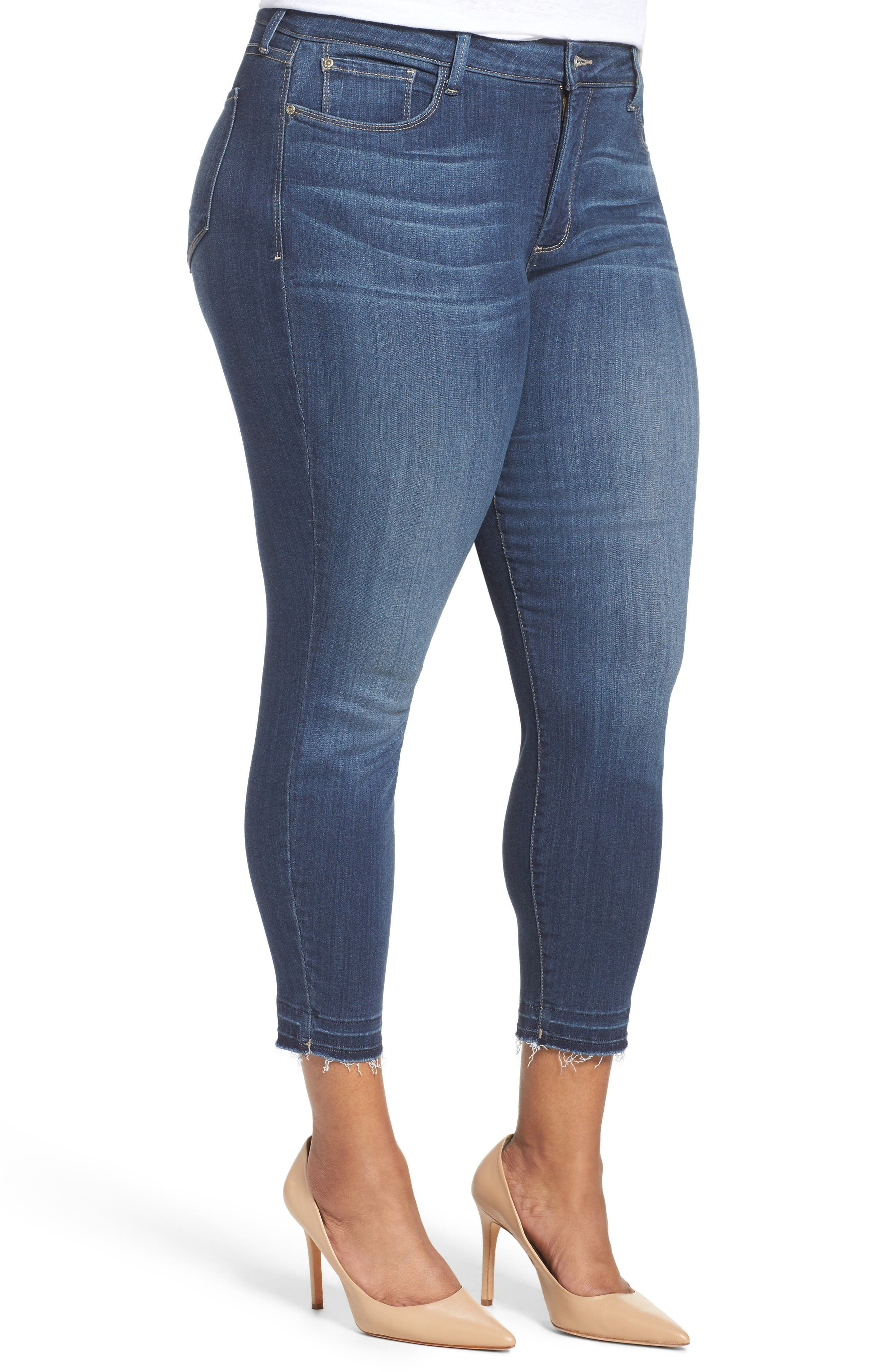 Alternate Image 3  - NYDJ Ami Release Hem Stretch Skinny Jeans (Plus Size)