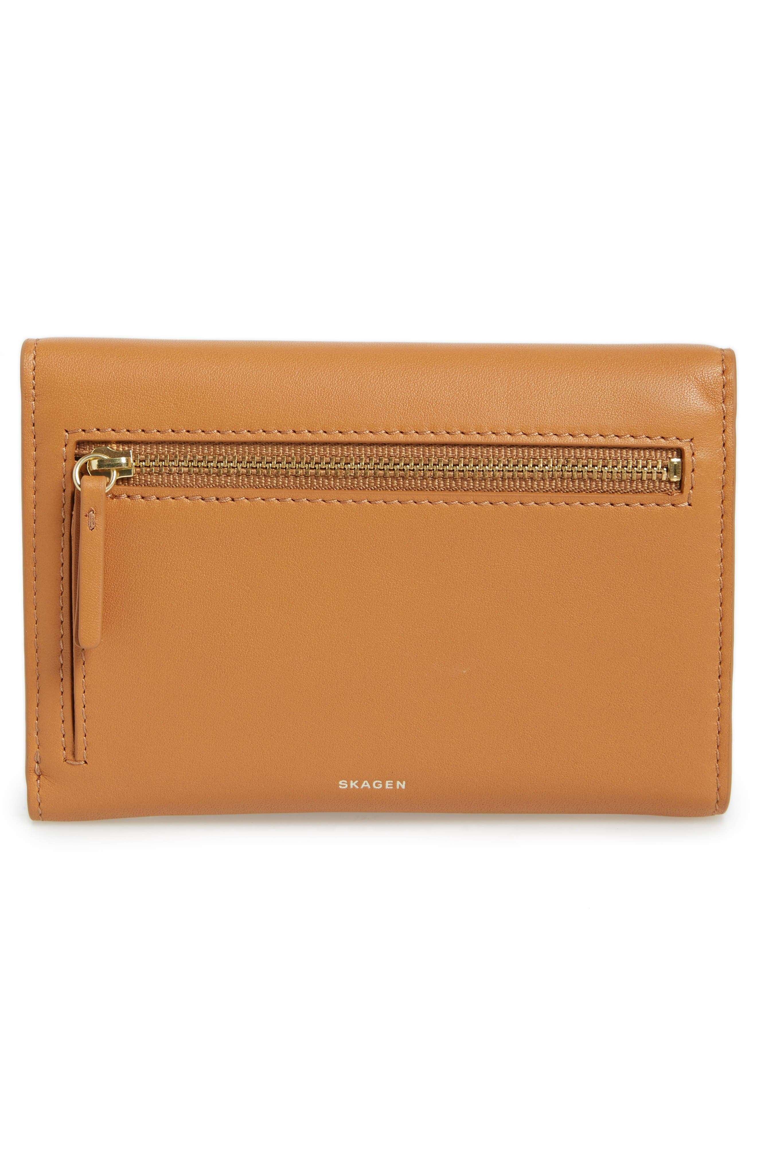 Alternate Image 4  - Skagen Compact Leather Flap Wallet