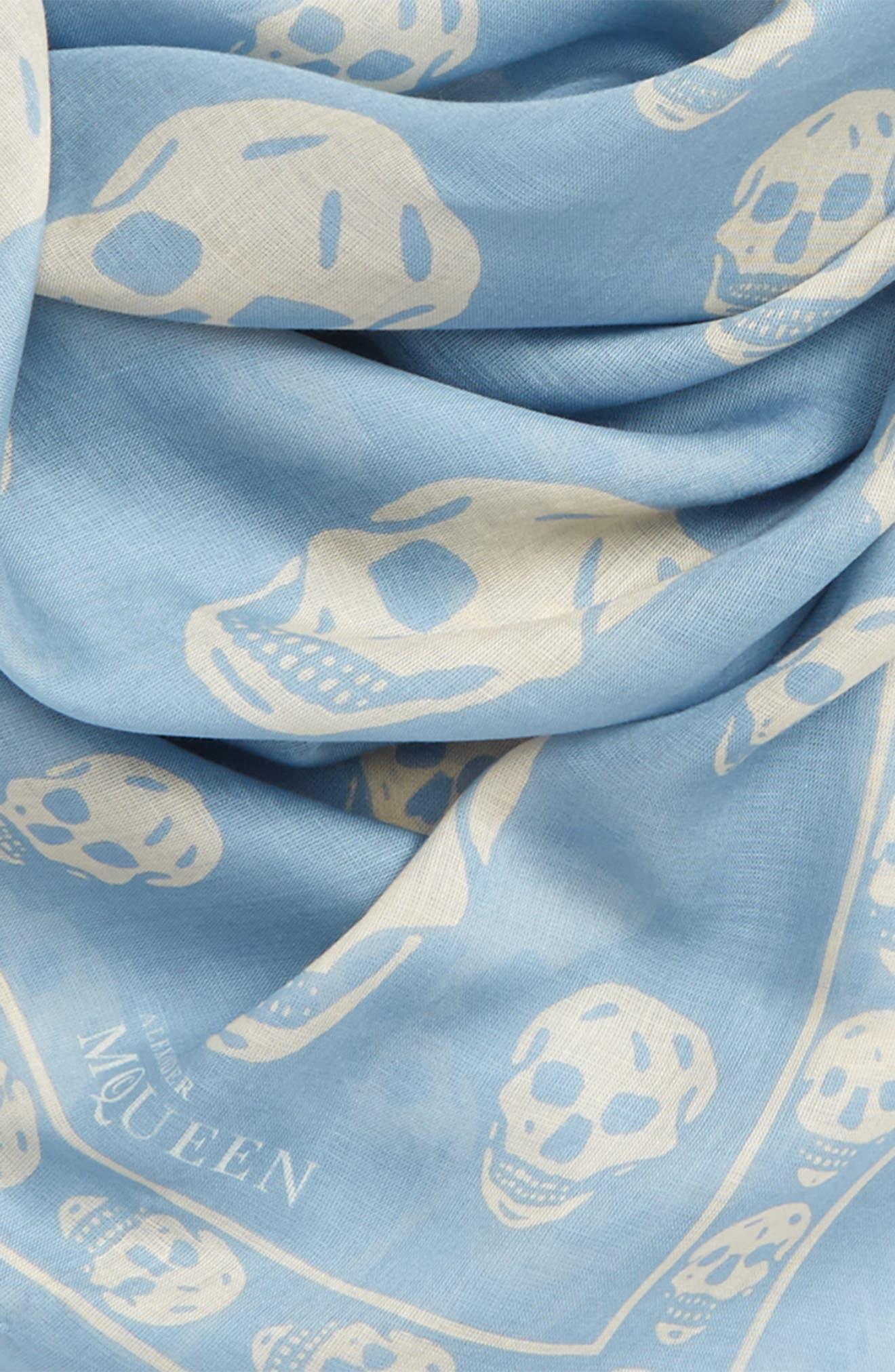 Alternate Image 3  - Alexander McQueen Skull Print Modal & Silk Scarf
