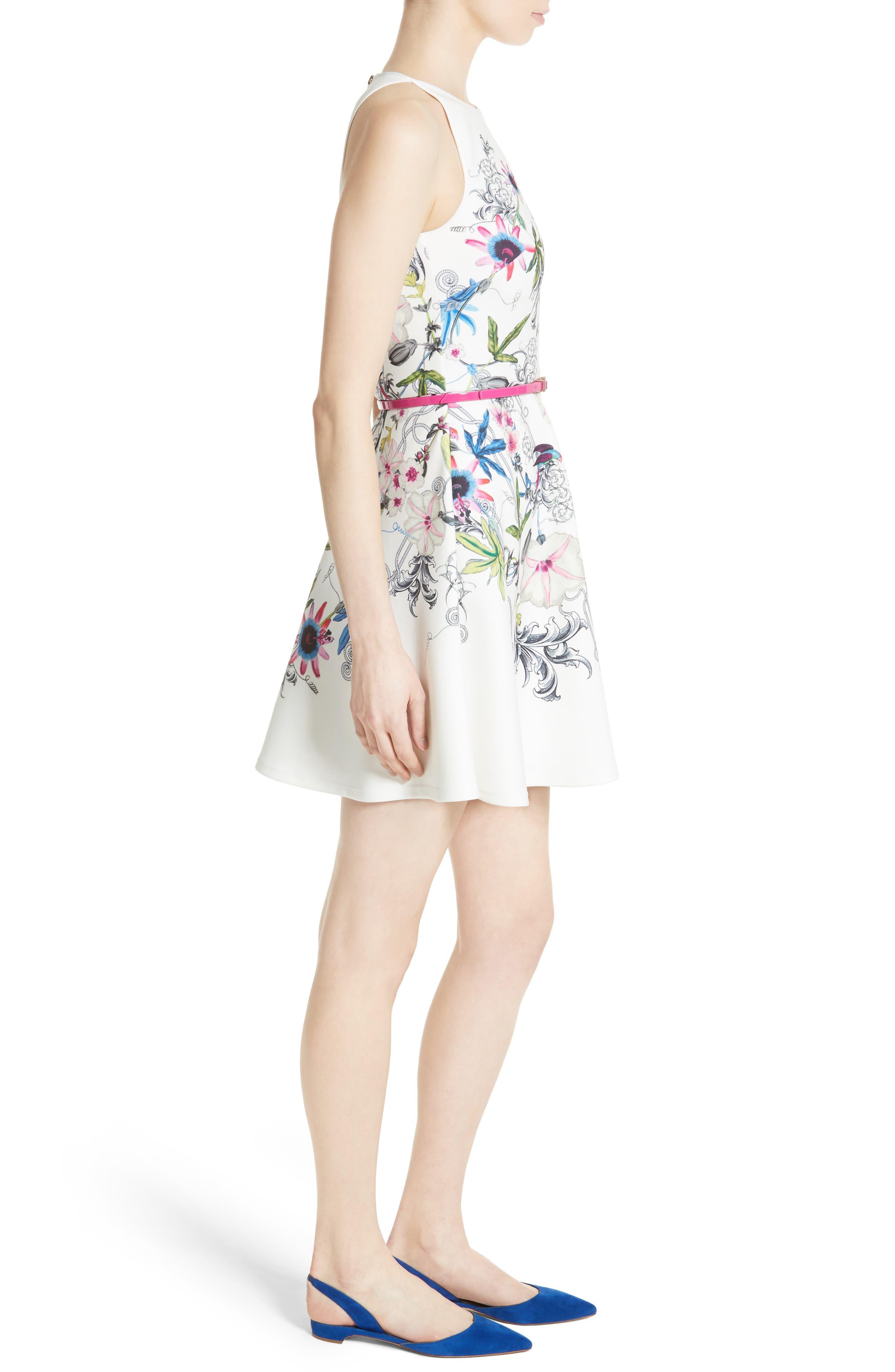 Alternate Image 3  - Ted Baker London Samm Floral Fit & Flare Dress